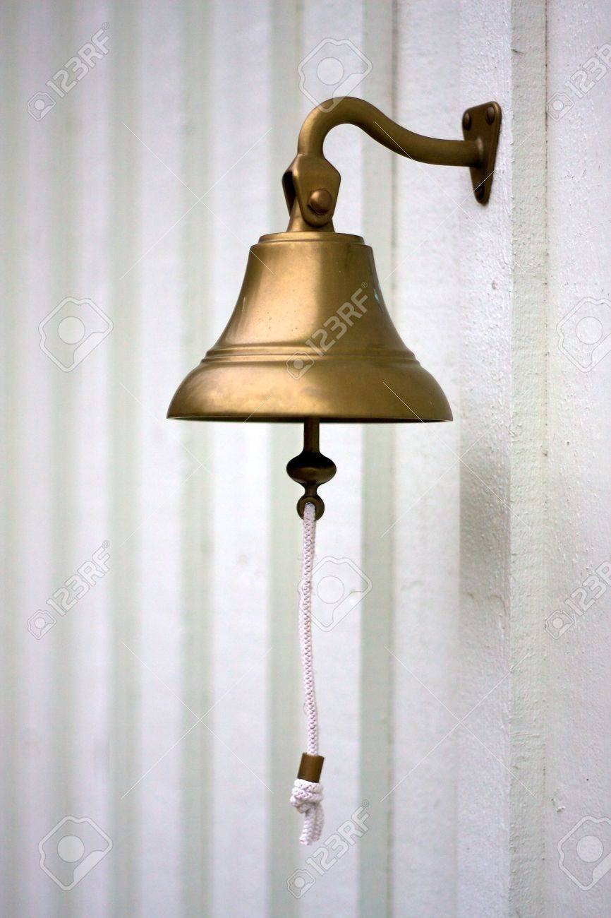 A brass bell on a wall Stock Photo - 9388989