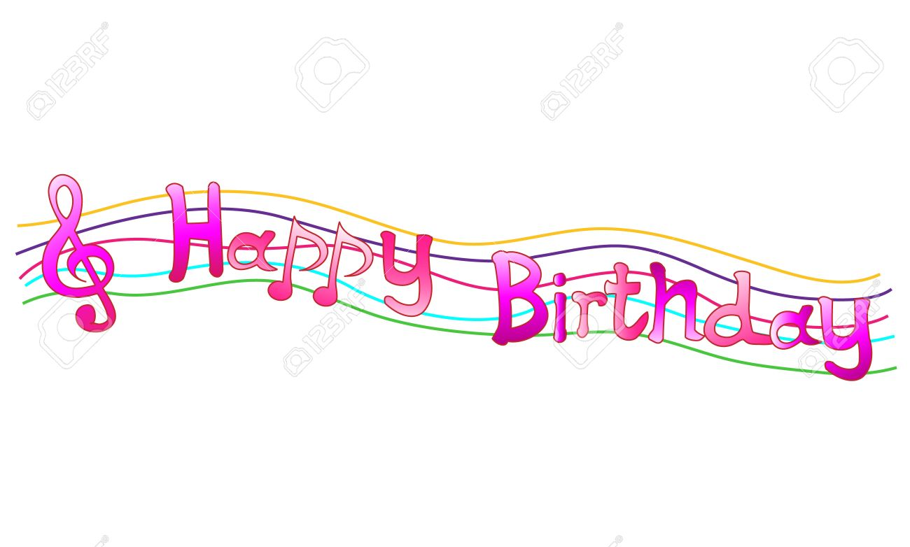 Happy Birthday Sheet Music Stock Vector