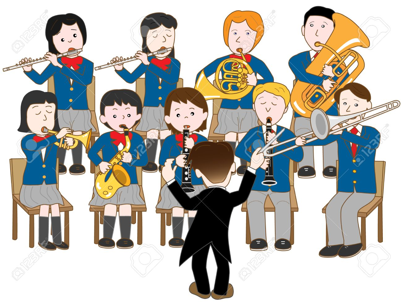 High School Band Royalty Free Cliparts, Vectors, And Stock ...