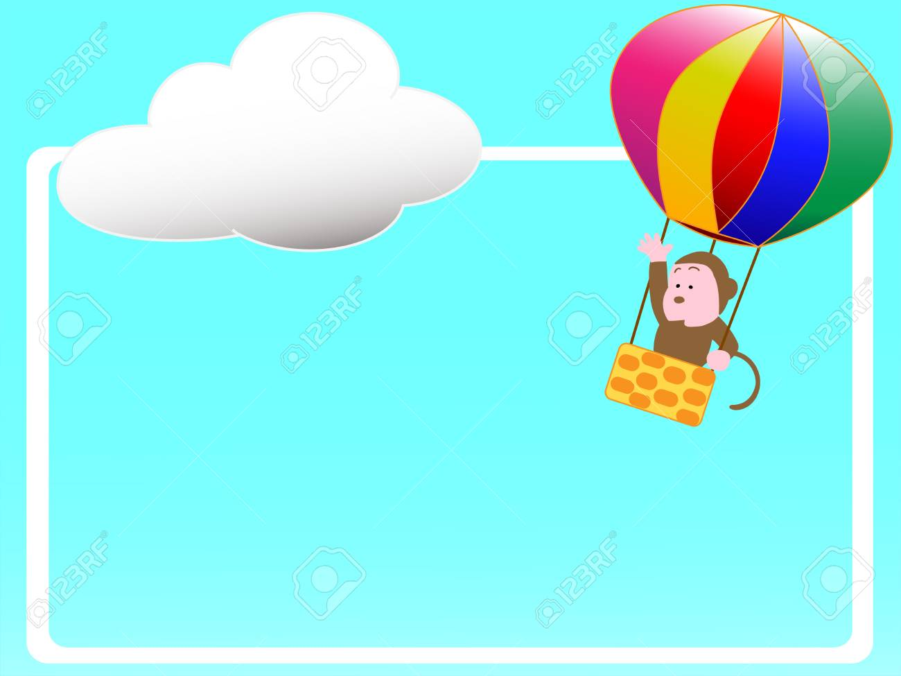 Hot Air Balloon Title Frame Royalty Free Cliparts Vectors And