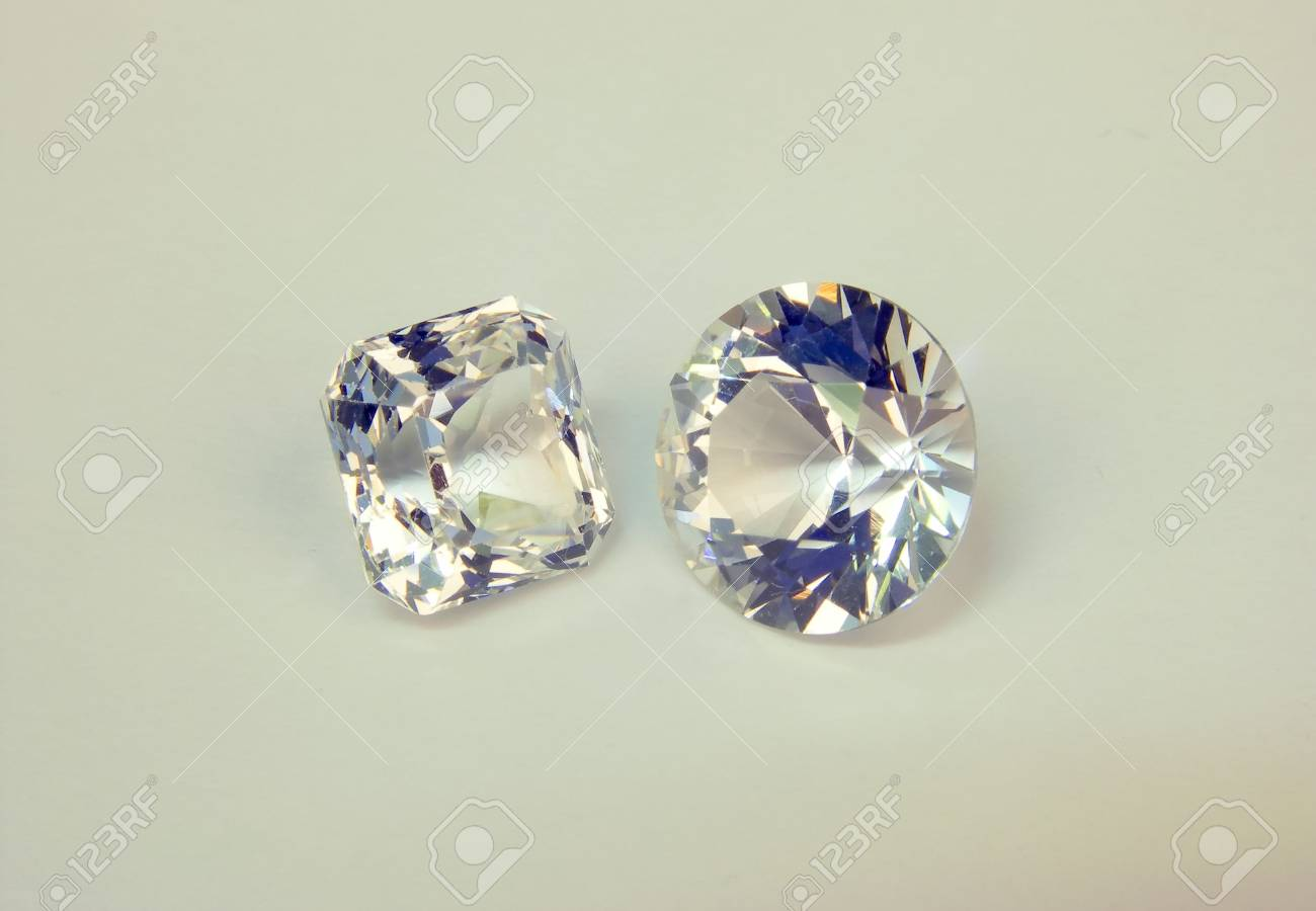 faceted stones on a white background Stock Photo - 3087247