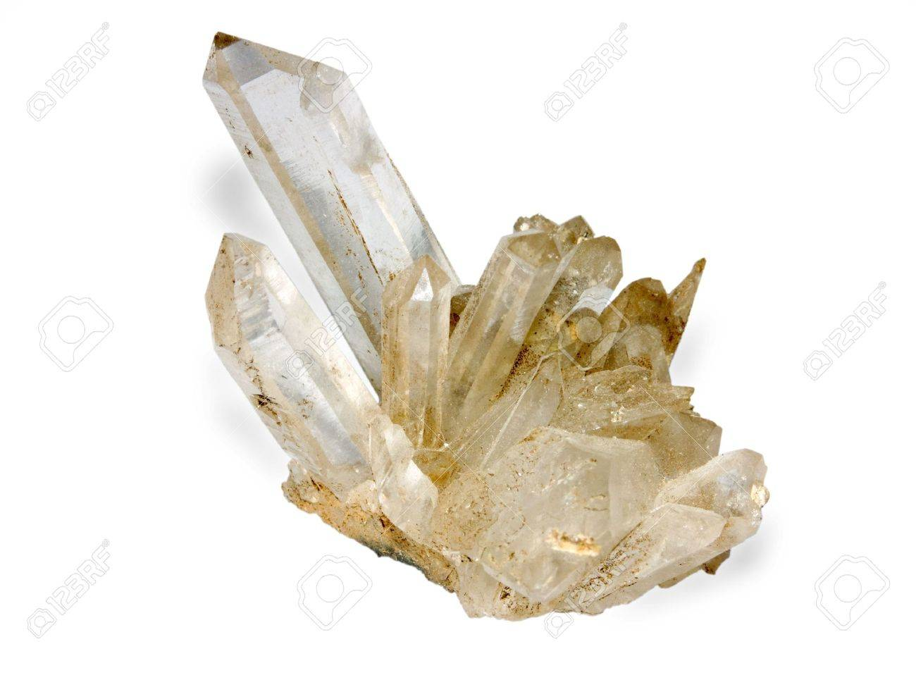 sample of the rock crystal insulated on white background Stock Photo - 3456342
