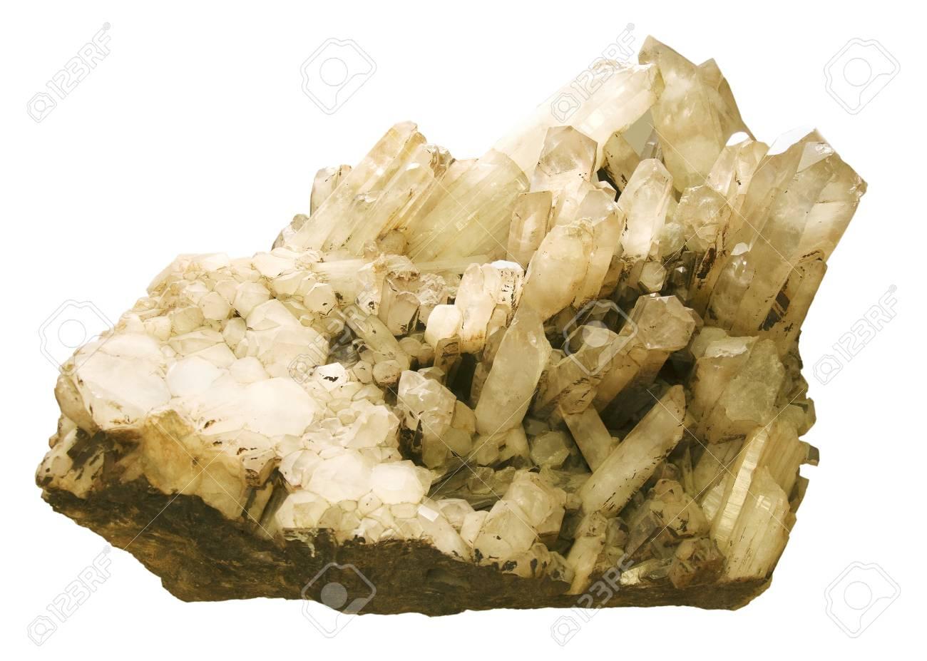 druse of quartz on a white background Stock Photo - 18235175