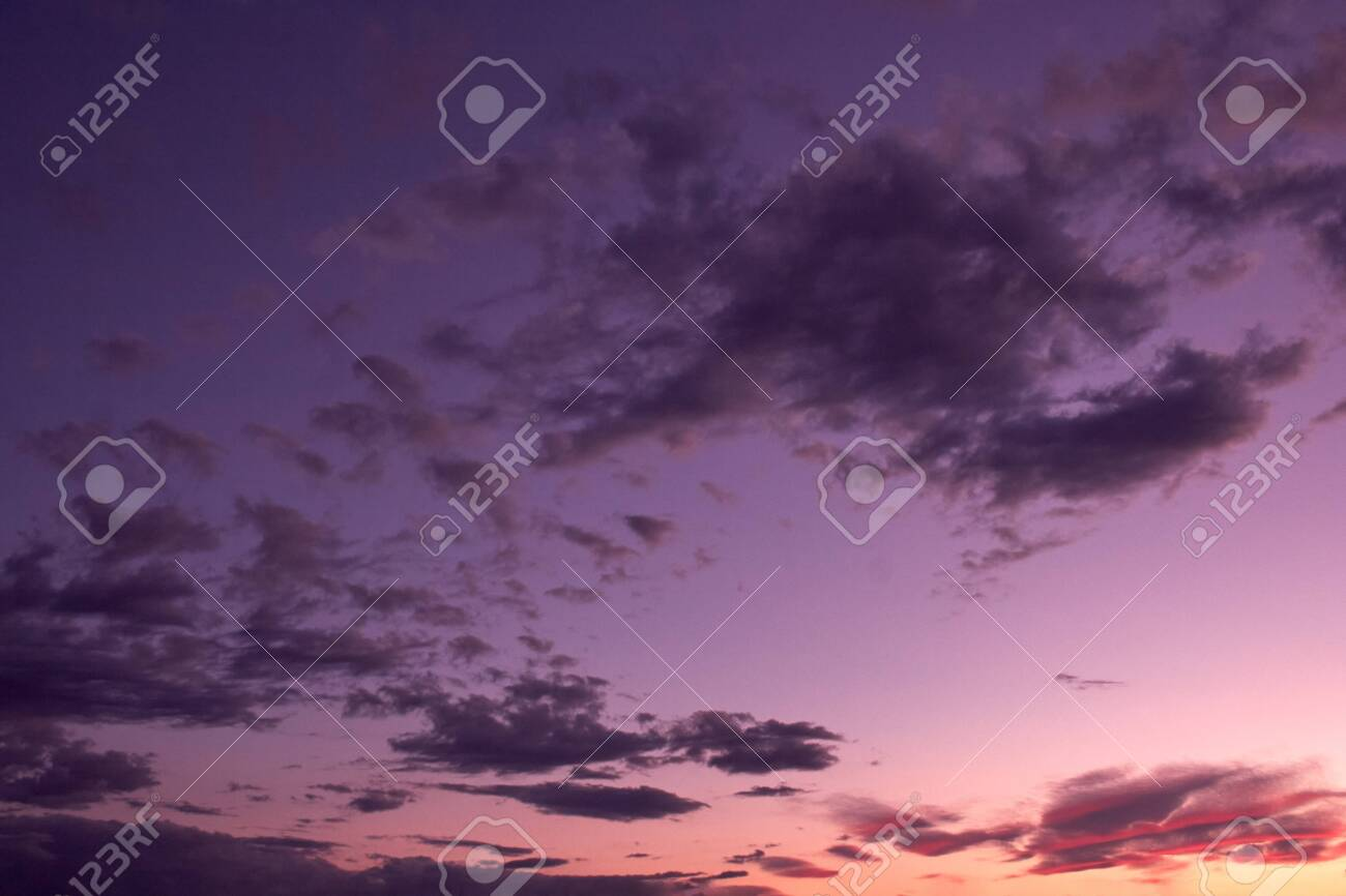 Purple Sunset Over The City Stock Photo Picture And Royalty Free Image Image 149477193