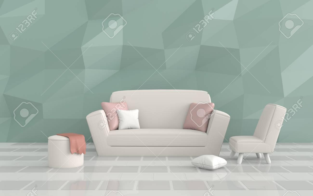Pavimento Bianco E Grigio : Immagini stock il soggiorno è arredato con cuscini divano sedia