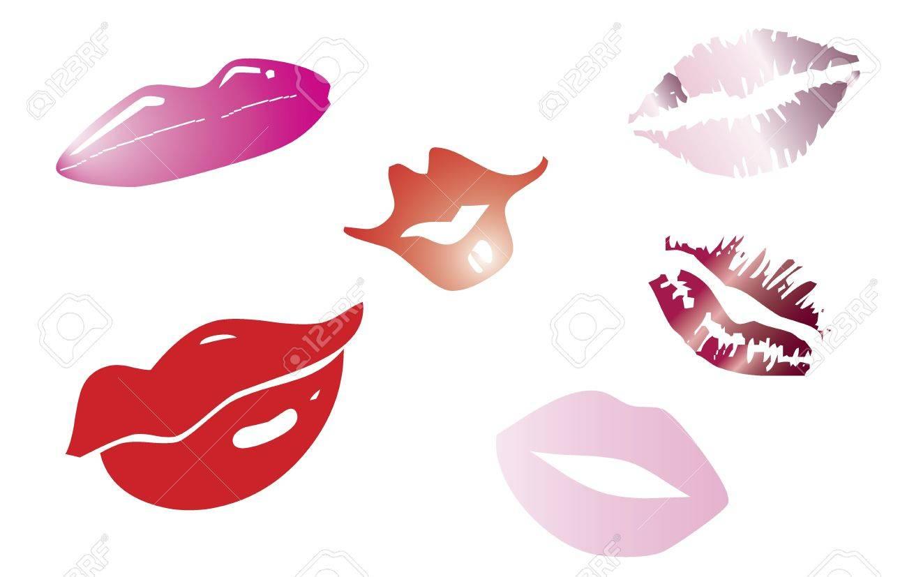 Retro Lips Set Stock Vector - 17593535
