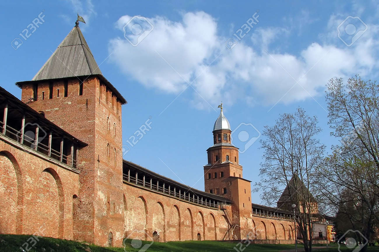 Novgorod citadel 1 Stock Photo - 602957