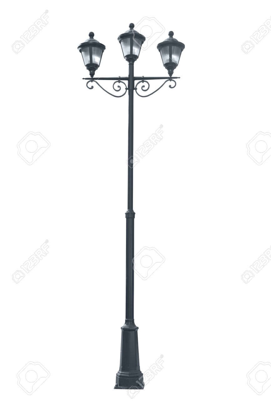 Isolated photo of an old street lamppost Stock Photo - 5861973