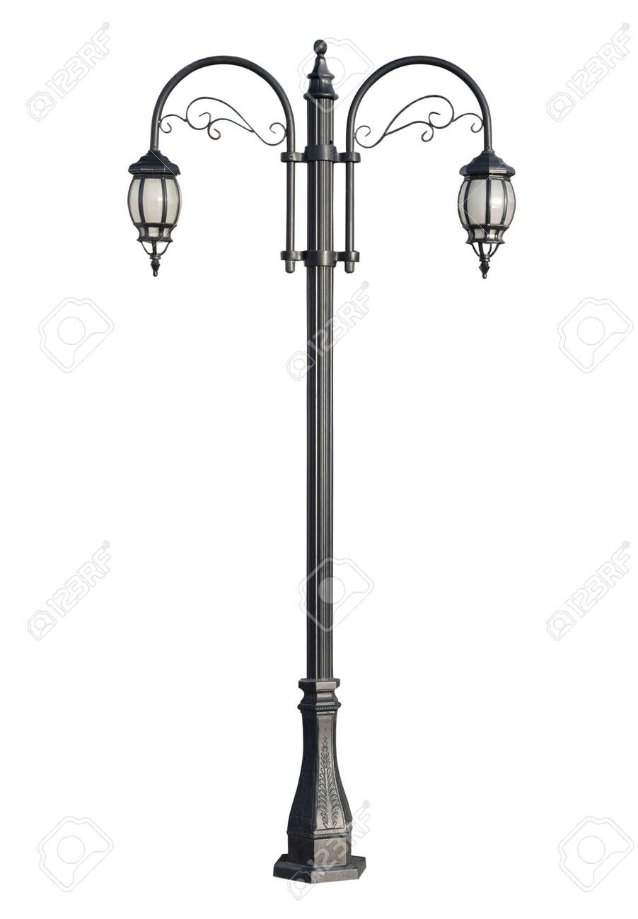 stock isolated at architectural an lamp street details of old online post lamppost photo