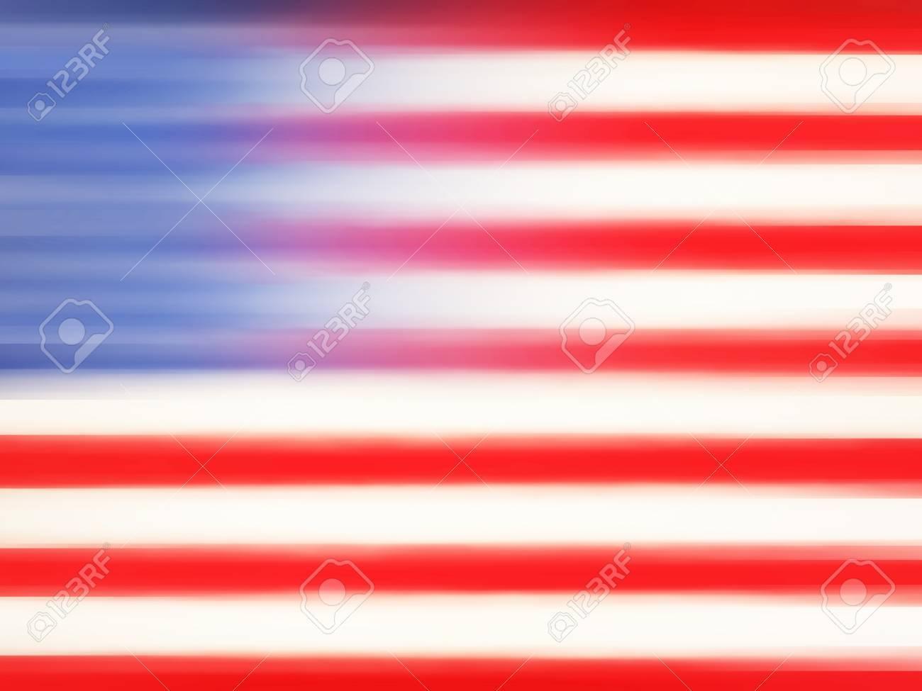 アメリカ国旗 抽象的なモーションブラーの Web デザイン カラフルな