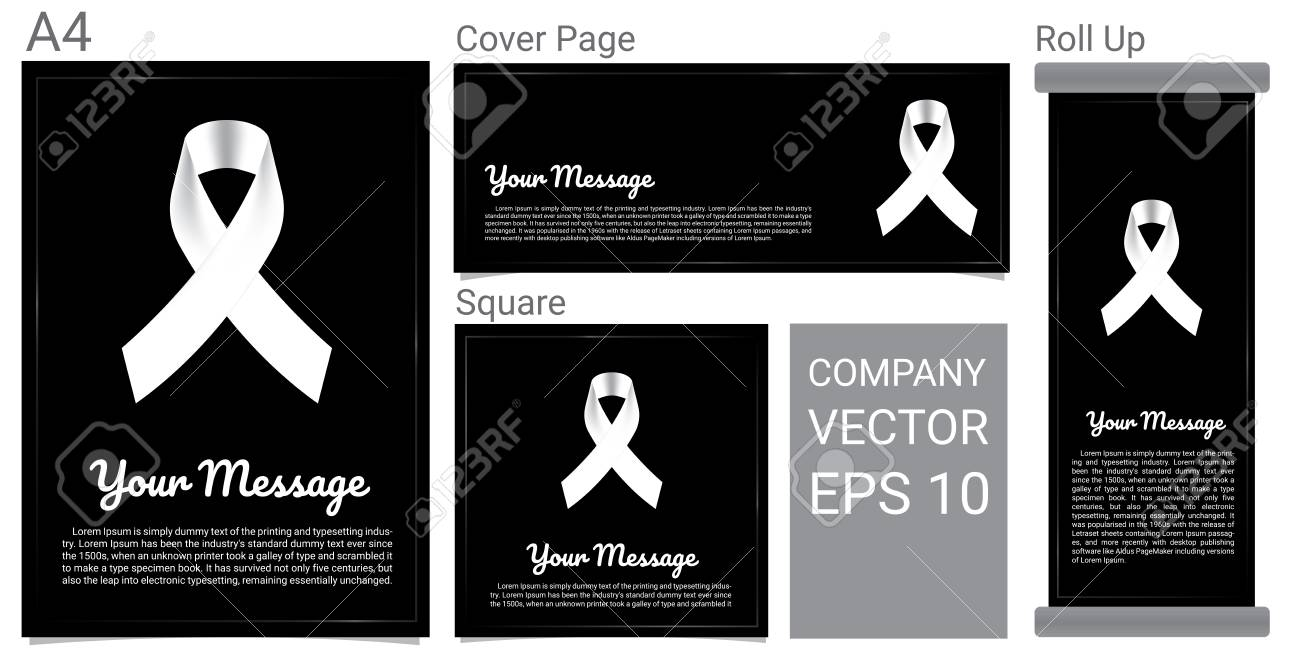 rip funeral card white ribbon and text banner royalty free cliparts