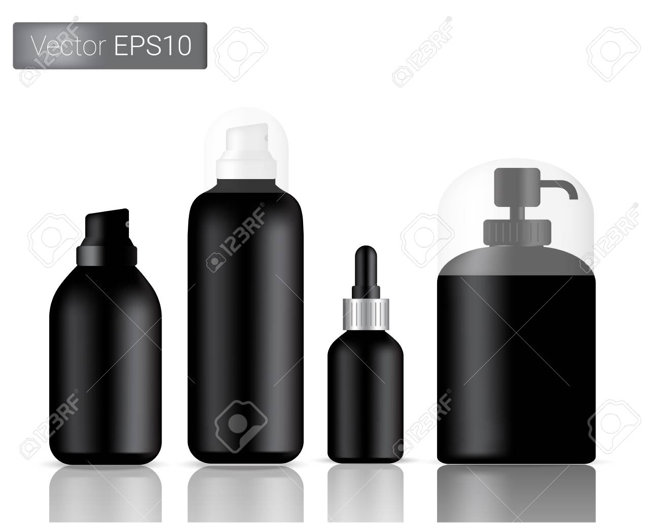 bbe87692ede1 Glass Spray Bottles Set Background Illustration