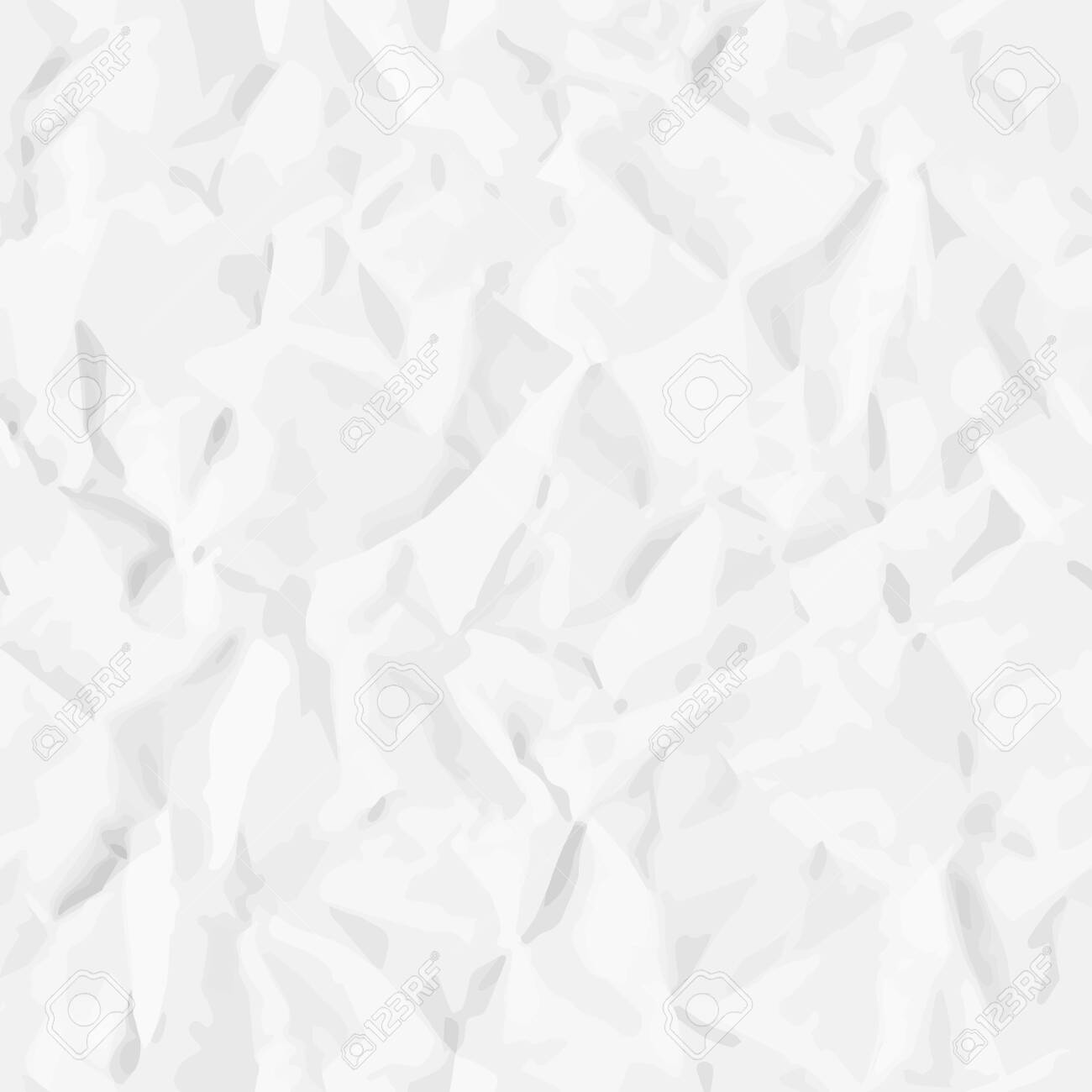 Realistic seamless pattern of crumpled (creased) paper. Vector texture for background - 141873592