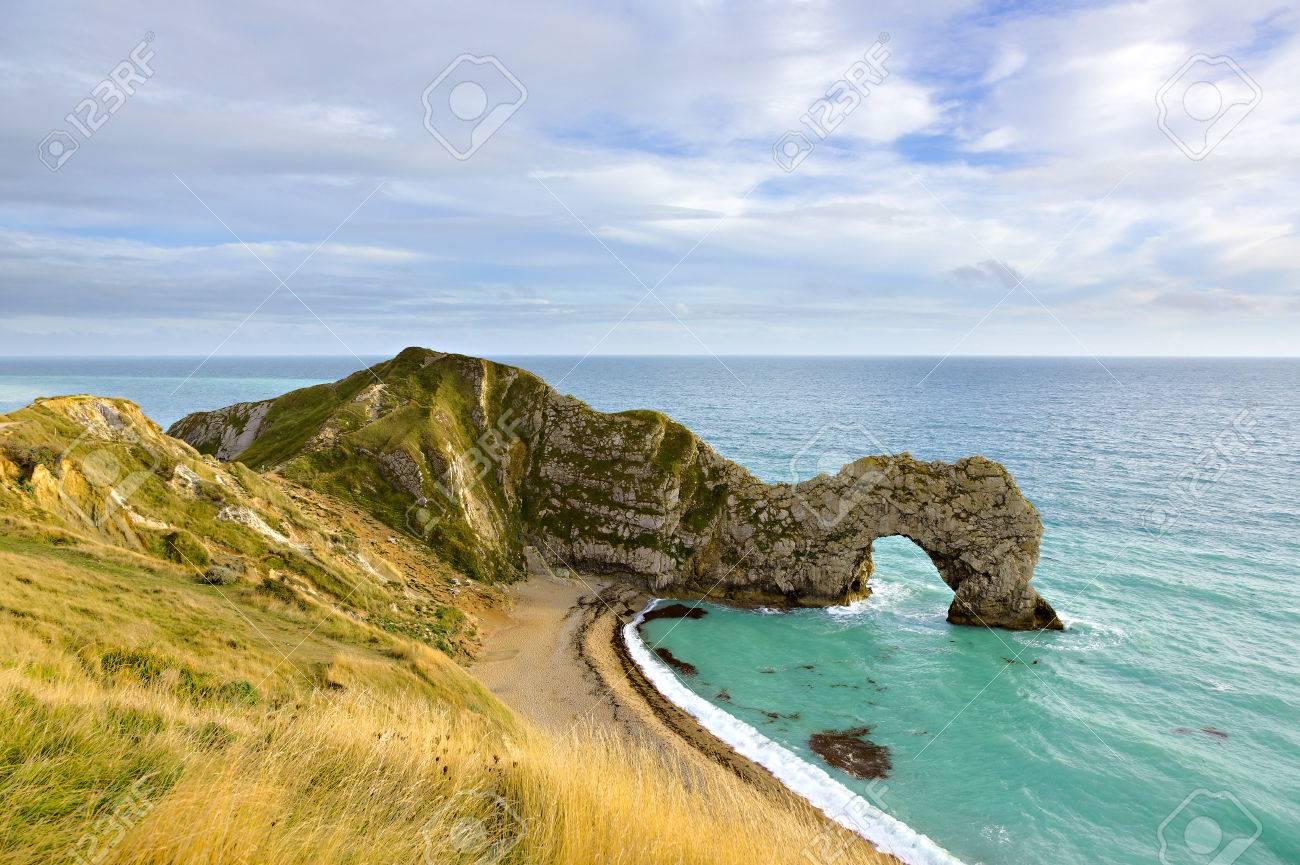 Carte Angleterre Cote Sud.Durdle Door Dans Le Dorset Sur La Cote Sud De L Angleterre Royaume Uni Cette Partie De L Angleterre Est Connu Comme La Cote Jurassique