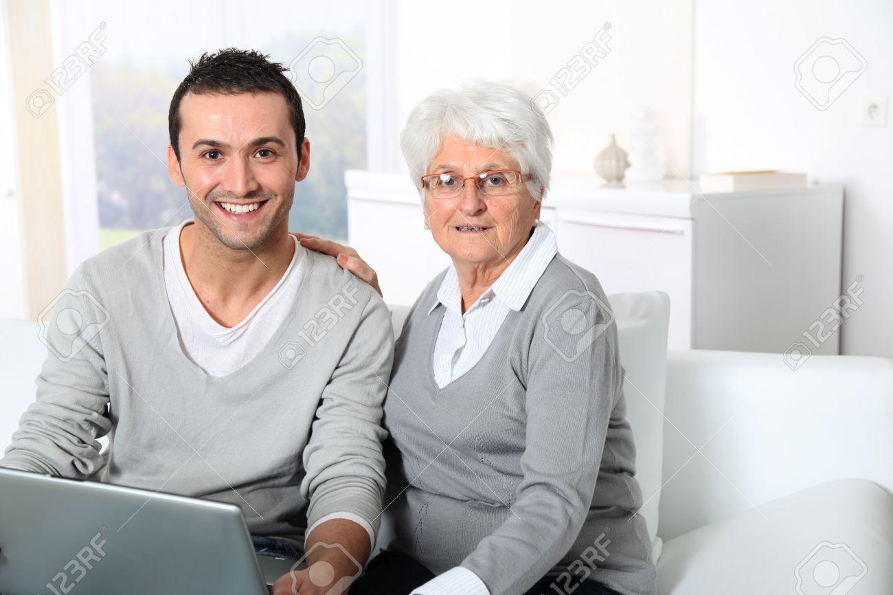 Elderly Using The Internet Man Using Internet at Home