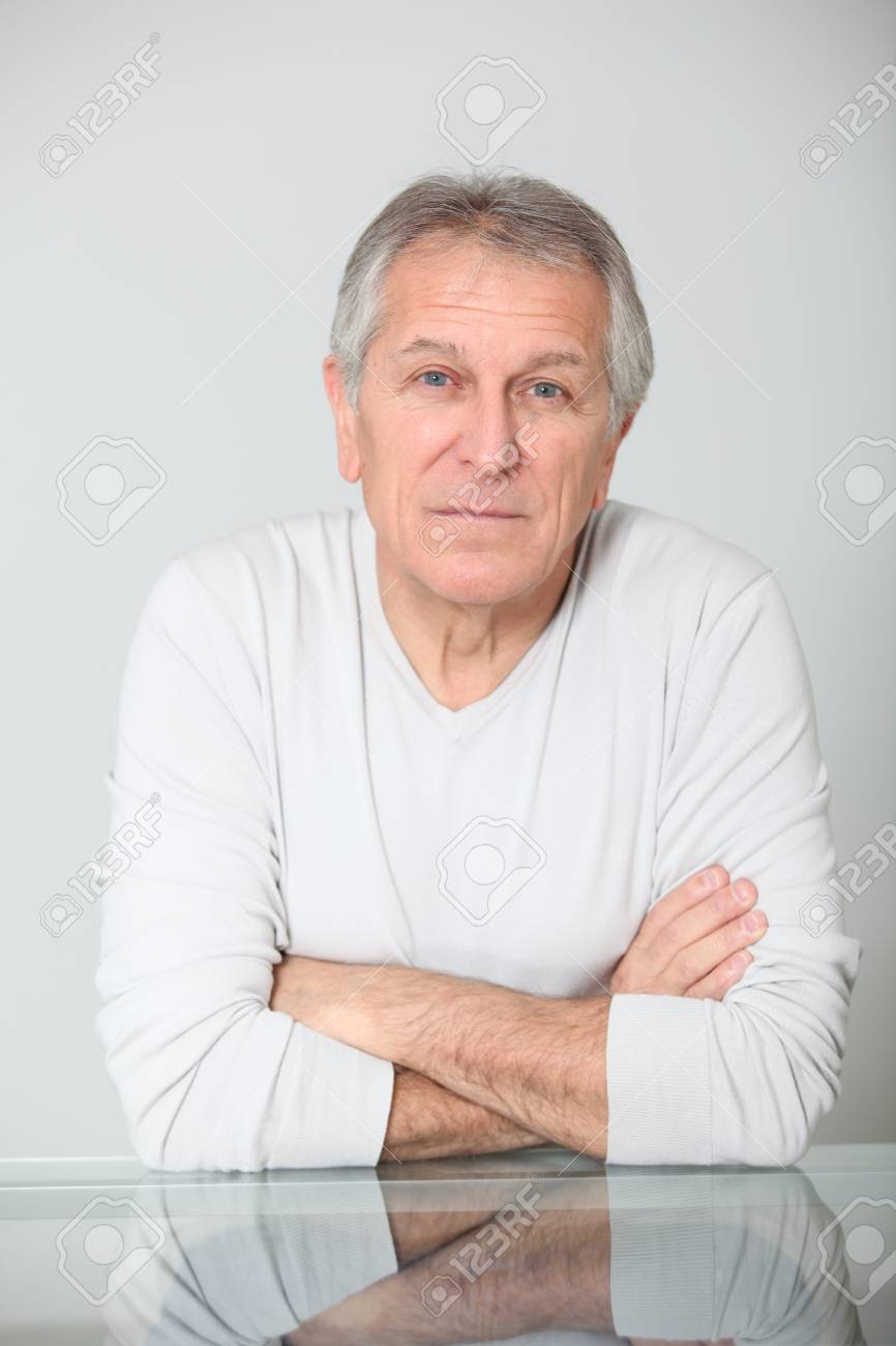 Senior man with serious expression Stock Photo - 8400728