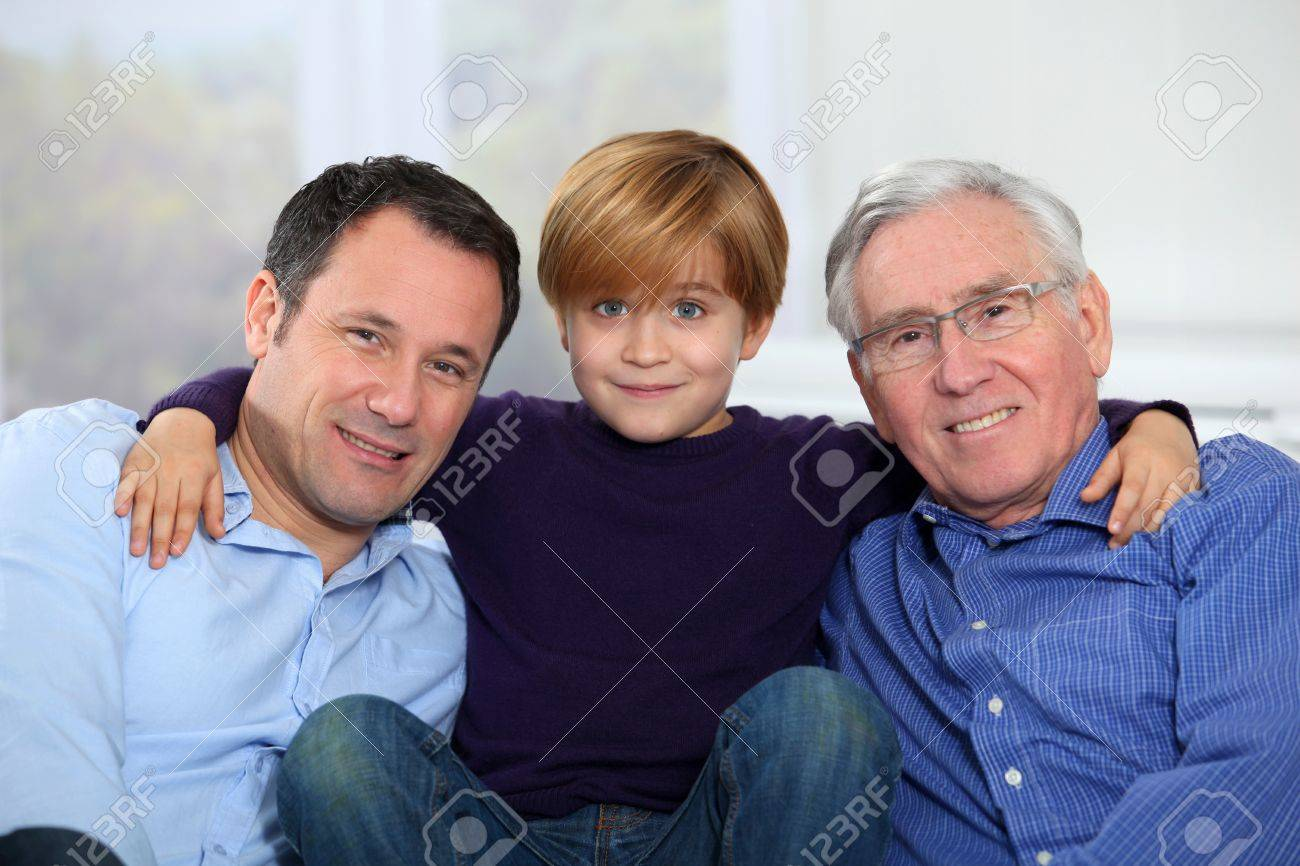 Three-generation family portrait Stock Photo - 8974327