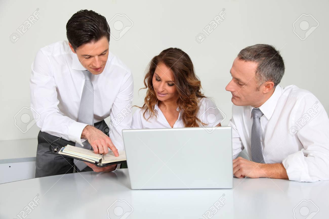 Business team working in the office Stock Photo - 8915276