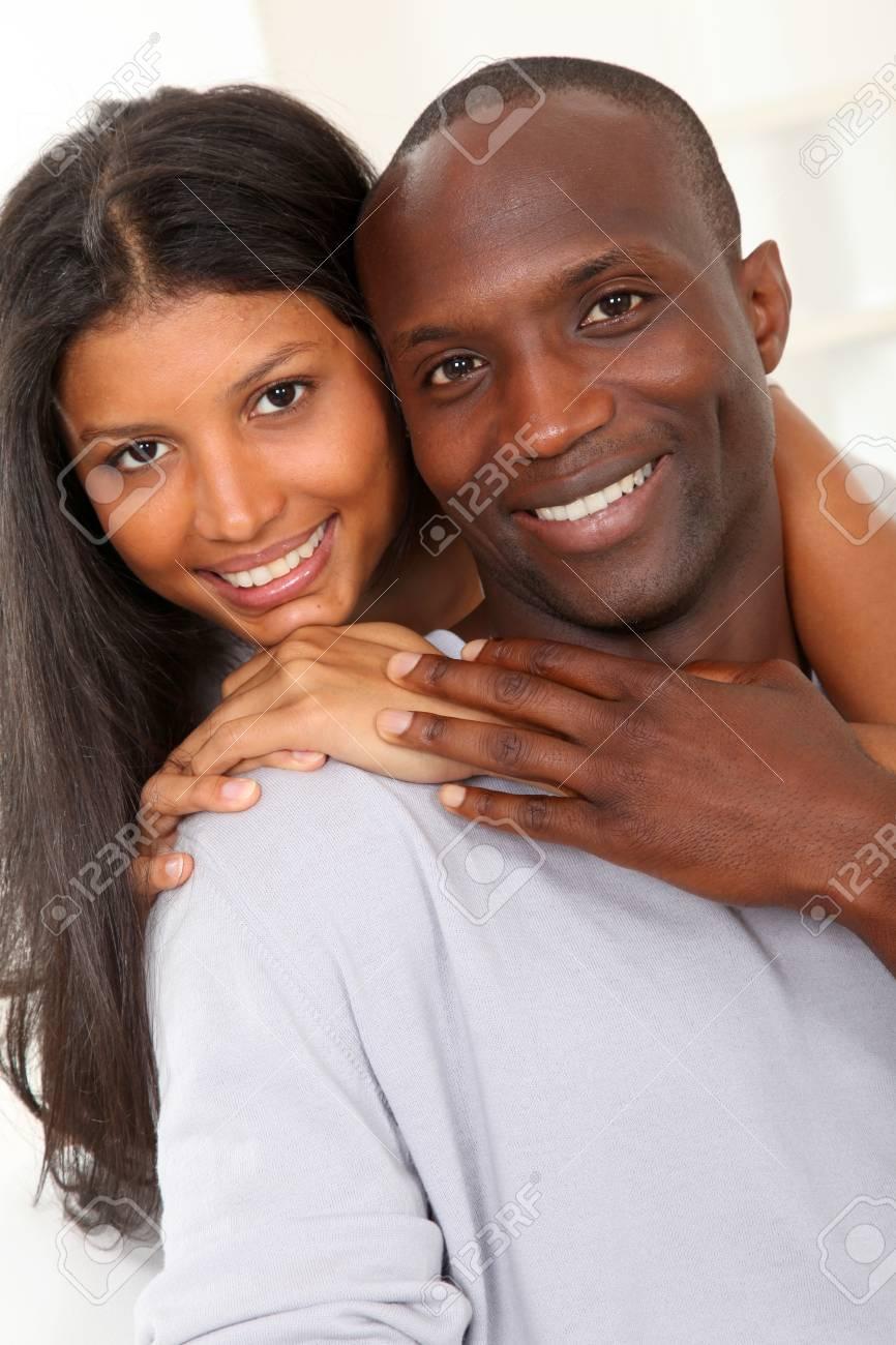 Portrait of happy smiling couple Stock Photo - 9635638