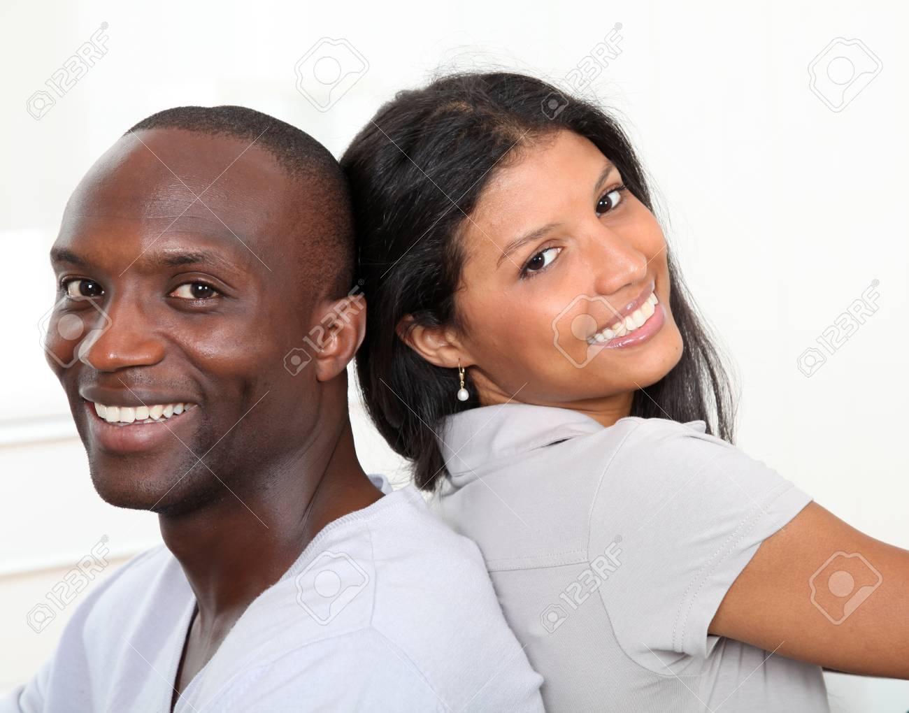 Portrait of happy smiling couple Stock Photo - 9638862