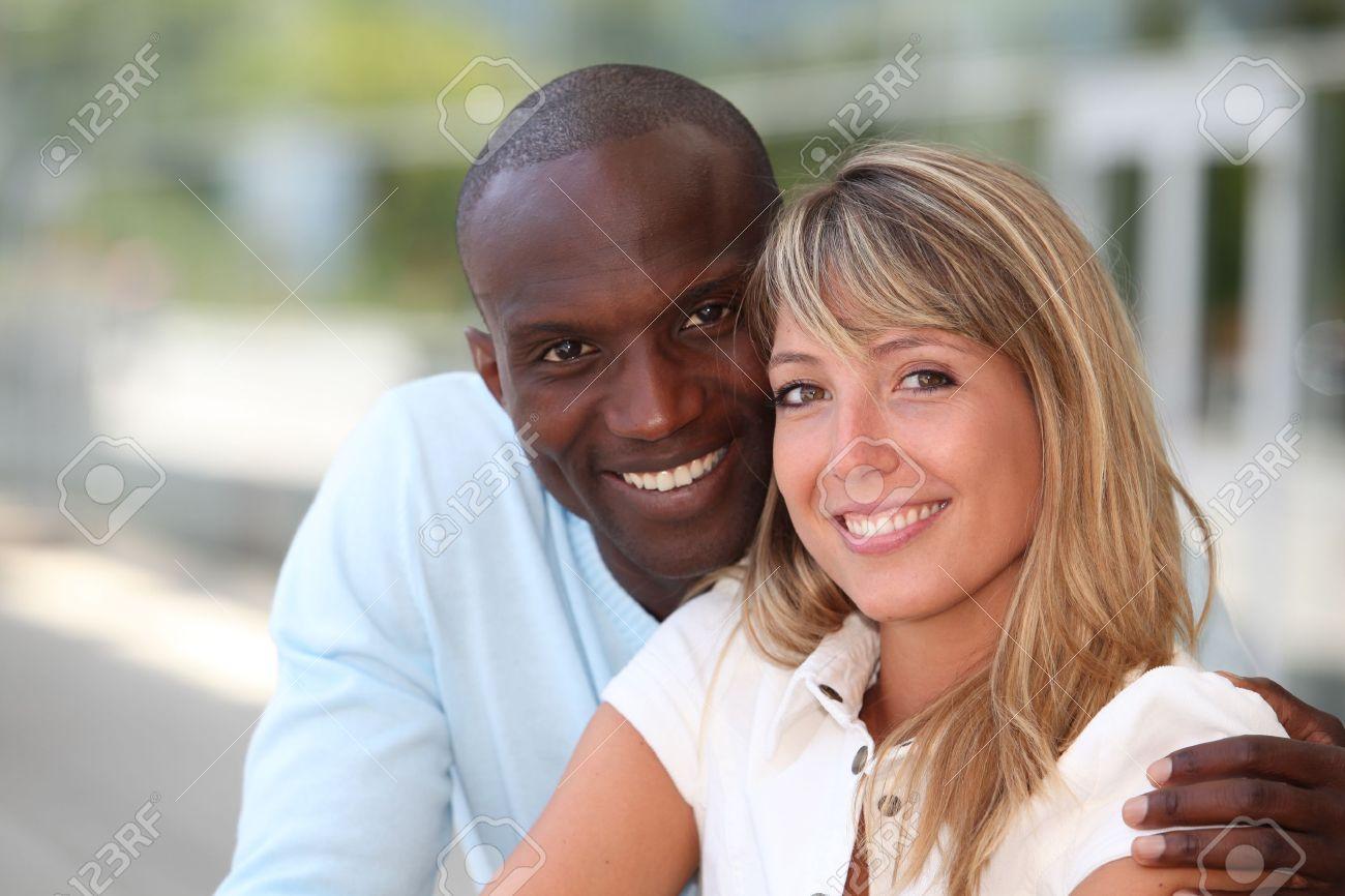 Portrait of happy mixed couple Stock Photo - 9903587