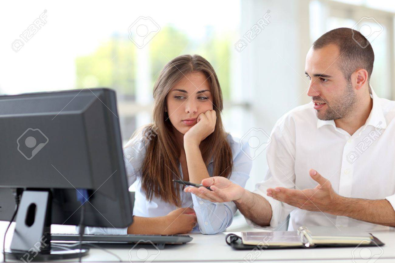 Office workers arguing on project Stock Photo - 10013230
