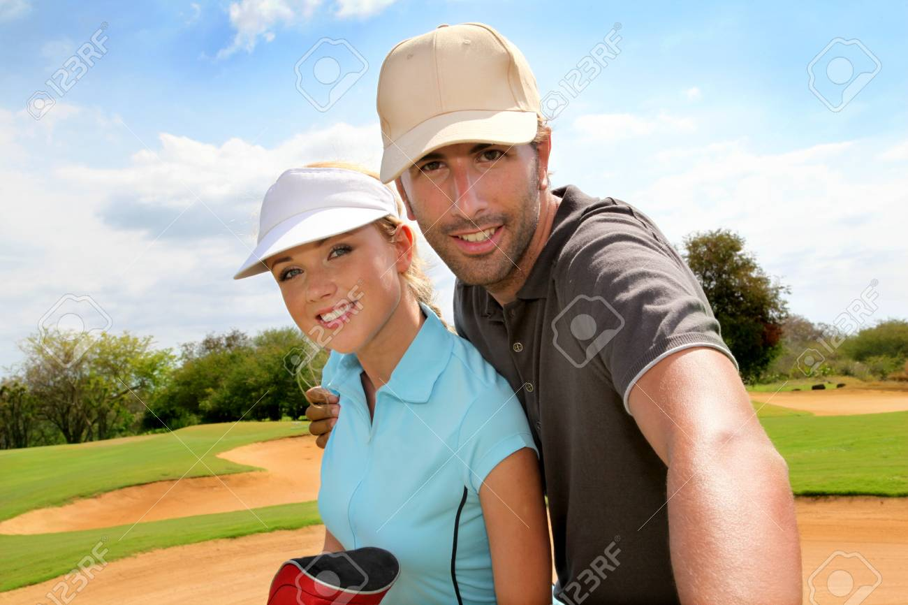 Golfers on golf course Stock Photo - 11517843