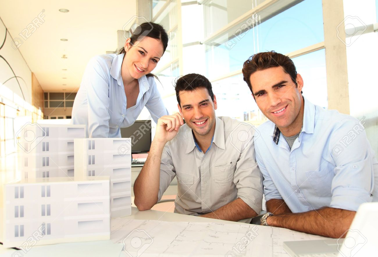 Team of architects working on project Stock Photo - 11852031