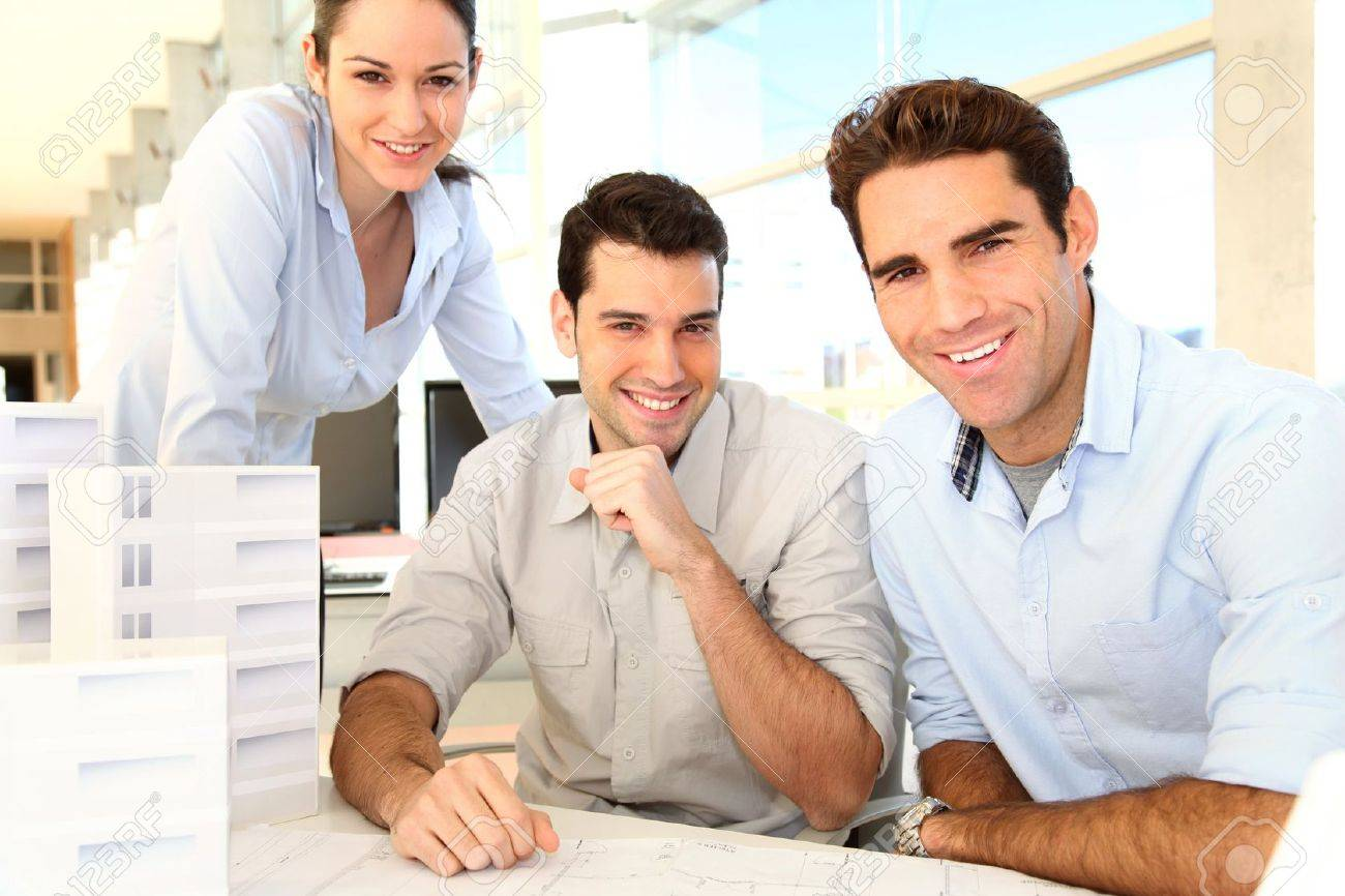 Team of architects working on project Stock Photo - 11853840