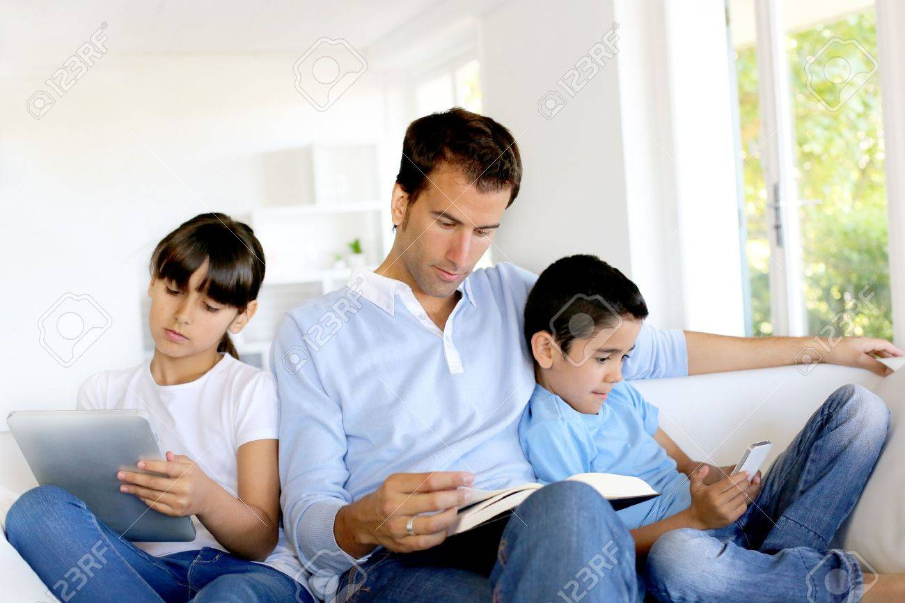 No more communication in family Stock Photo - 14663593