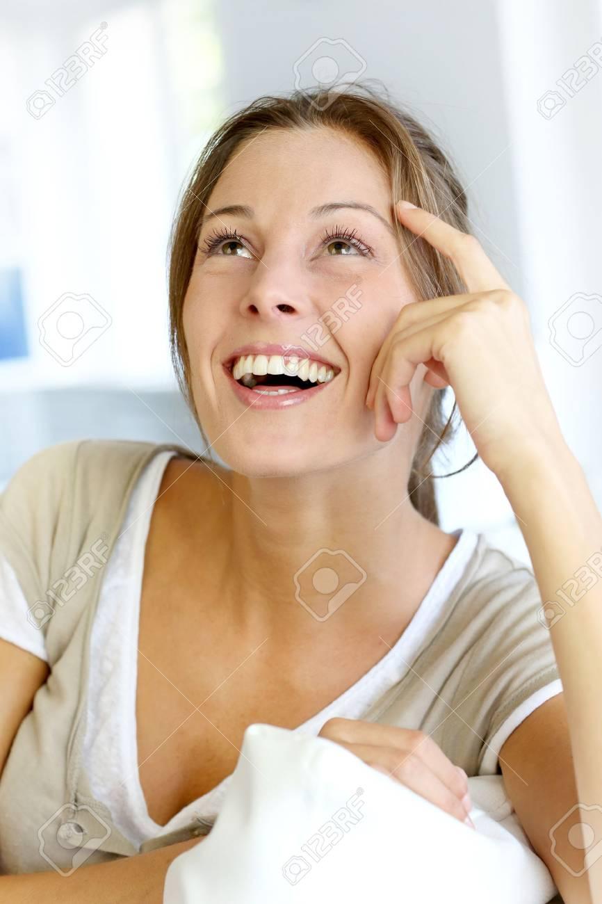 Portrait of beautiful smiling woman Stock Photo - 15279241