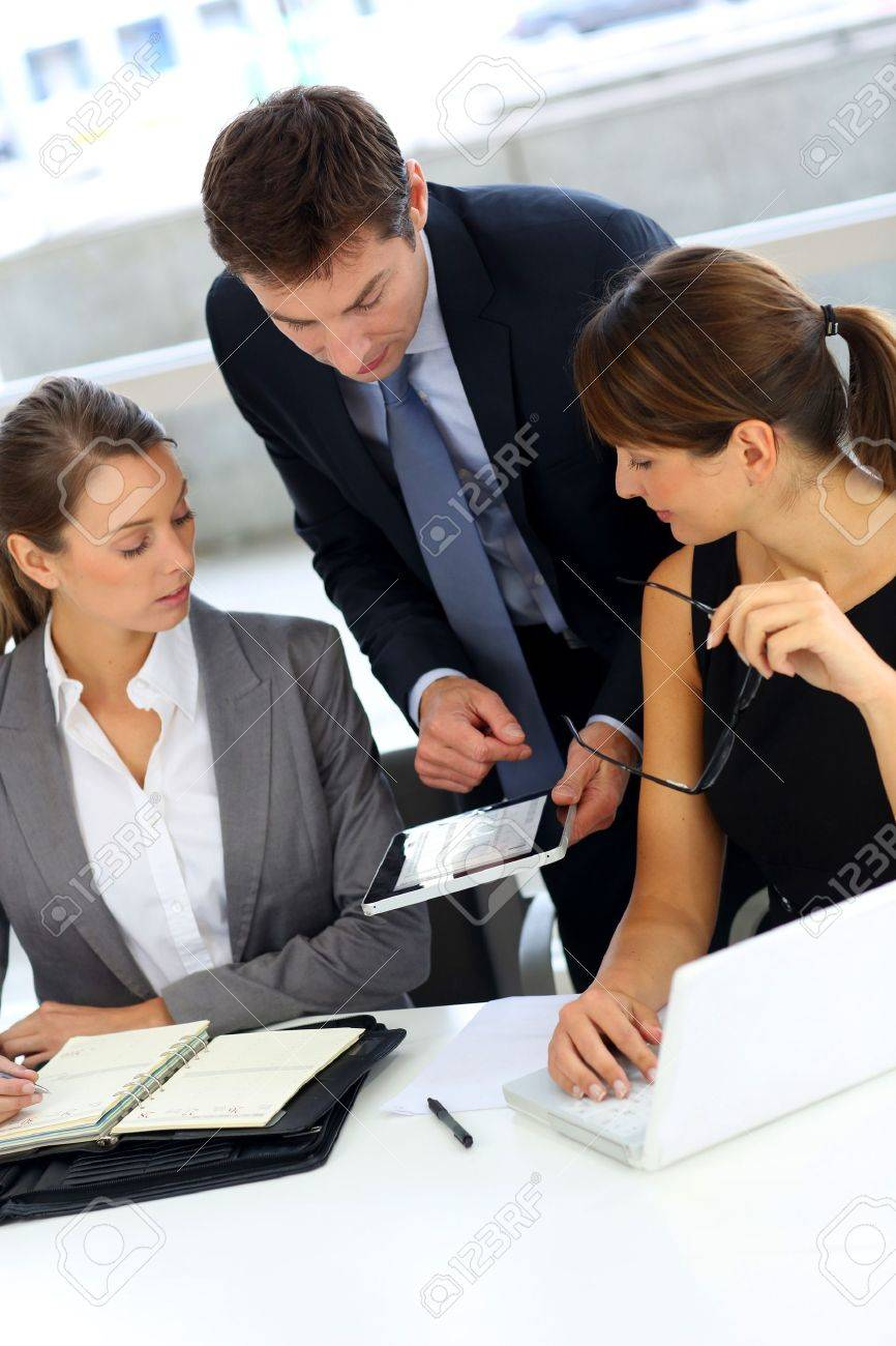 Business team on a project meeting Stock Photo - 15811158