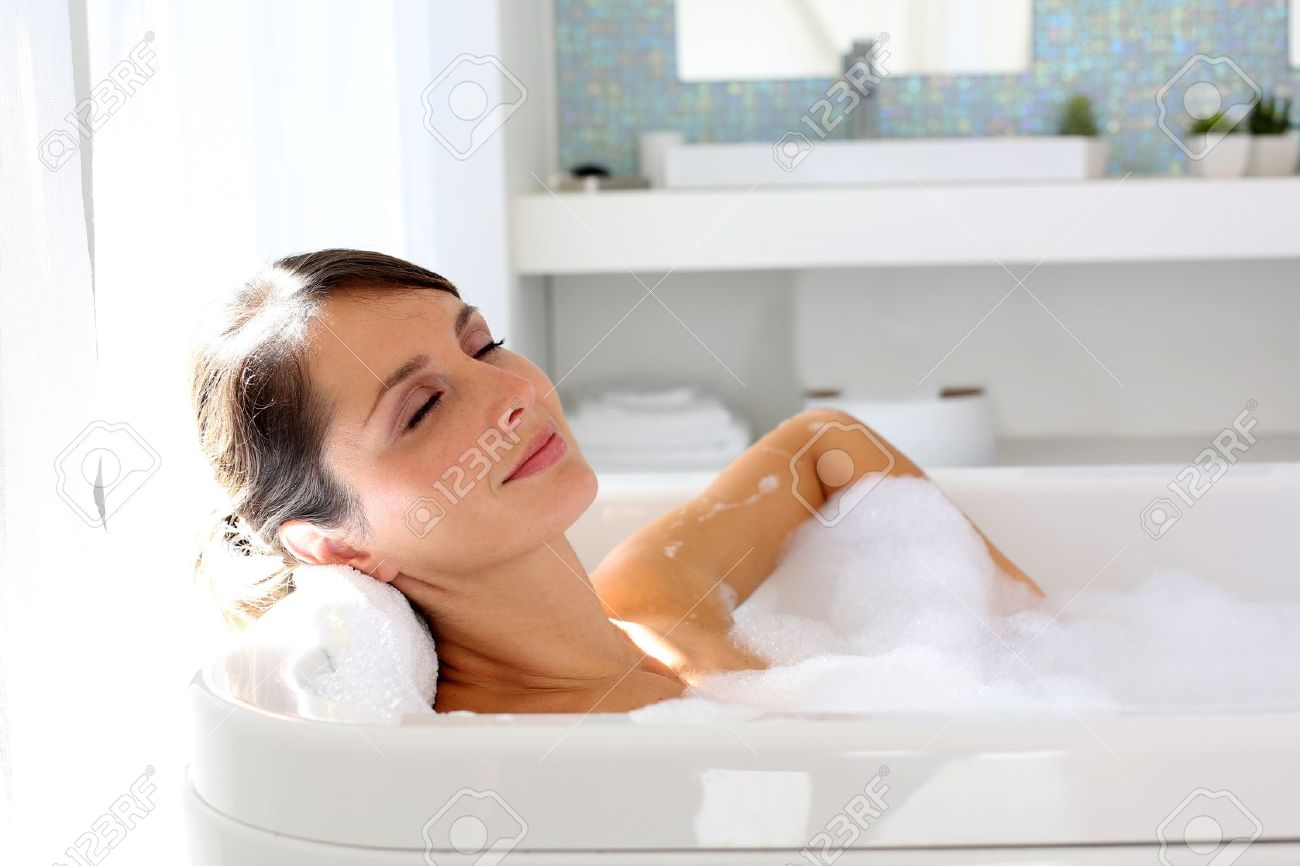 woman bath  Beautiful woman relaxing in bathtub Stock Photo. Woman Bath Stock Photos Images  Royalty Free Woman Bath Images And