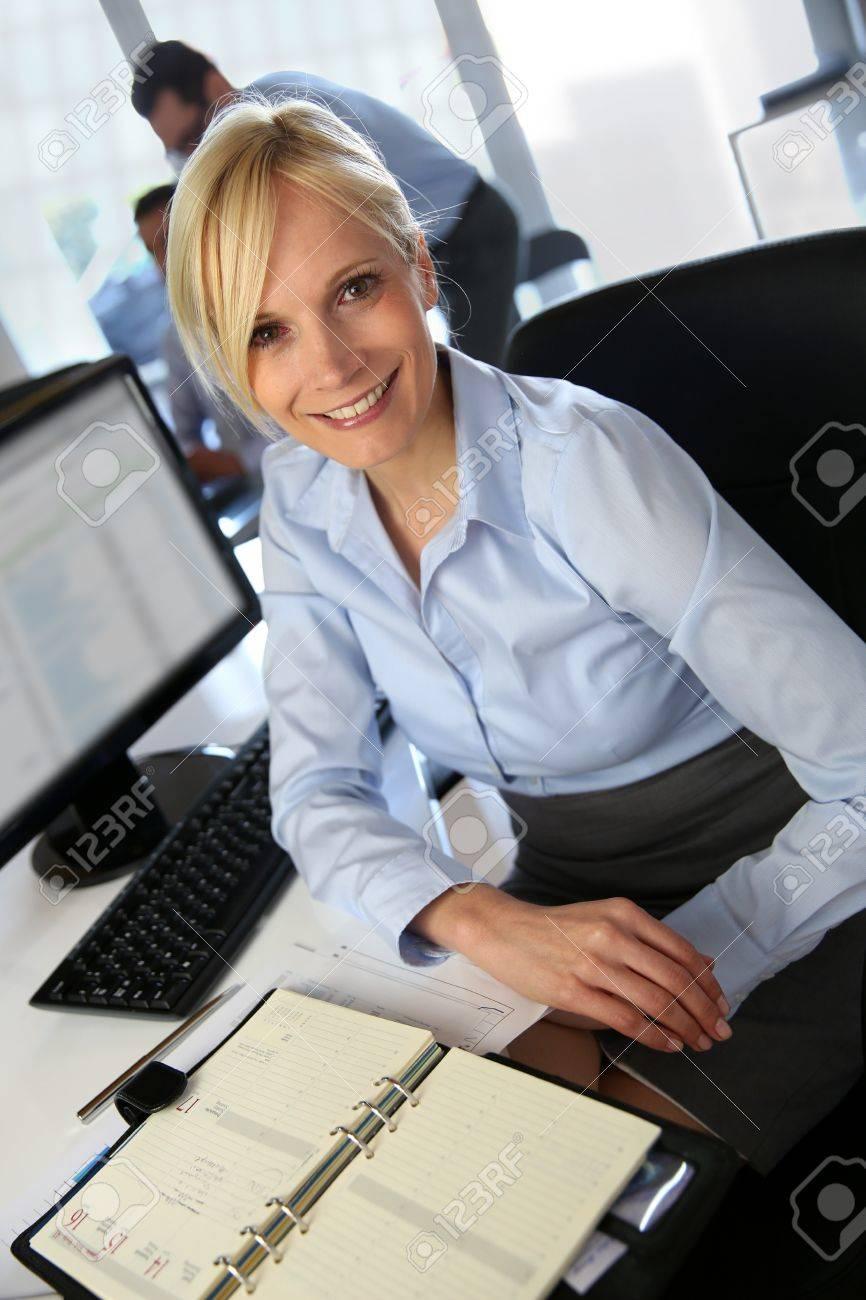 Upper view of beautiful corporate woman Stock Photo - 18941750