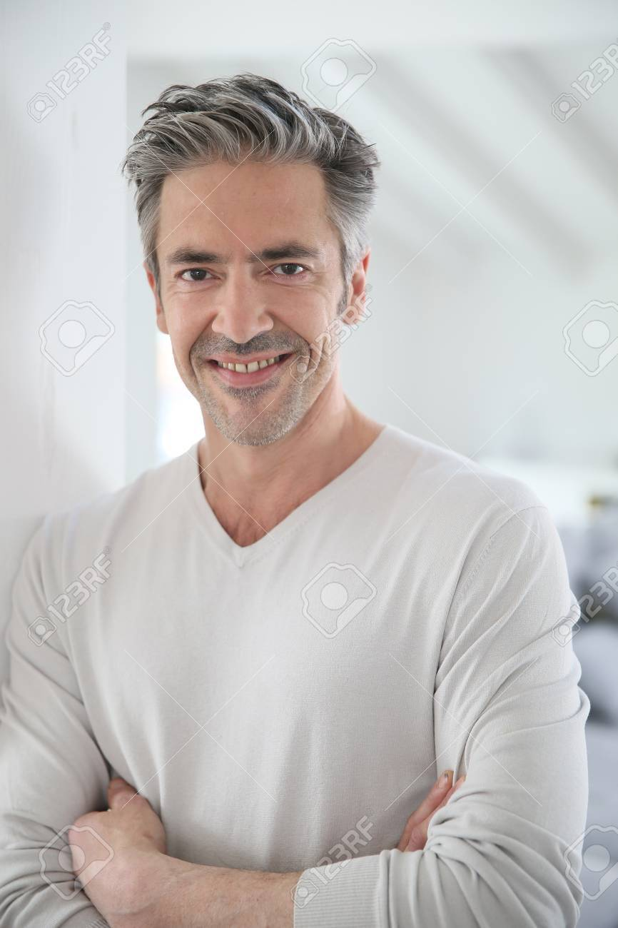 Portrait of attractive 50-year-old man Stock Photo - 38652462