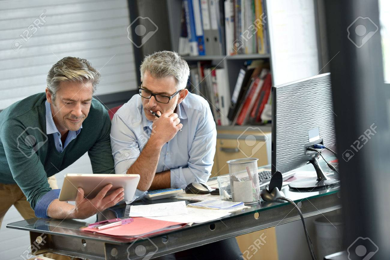 Business people in office meeting for project Standard-Bild - 57025638