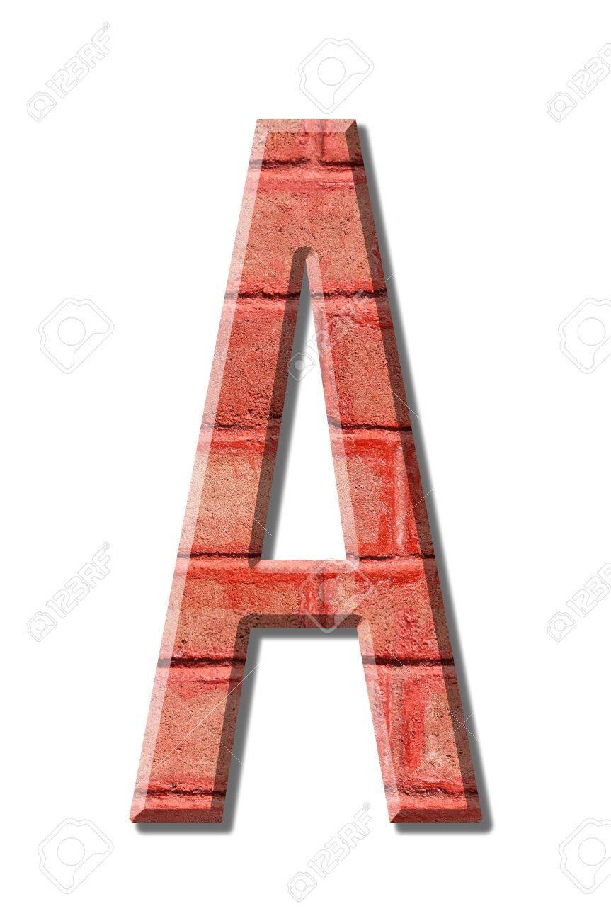 brick style Letter alphabet on White background Stock Photo - 12179150