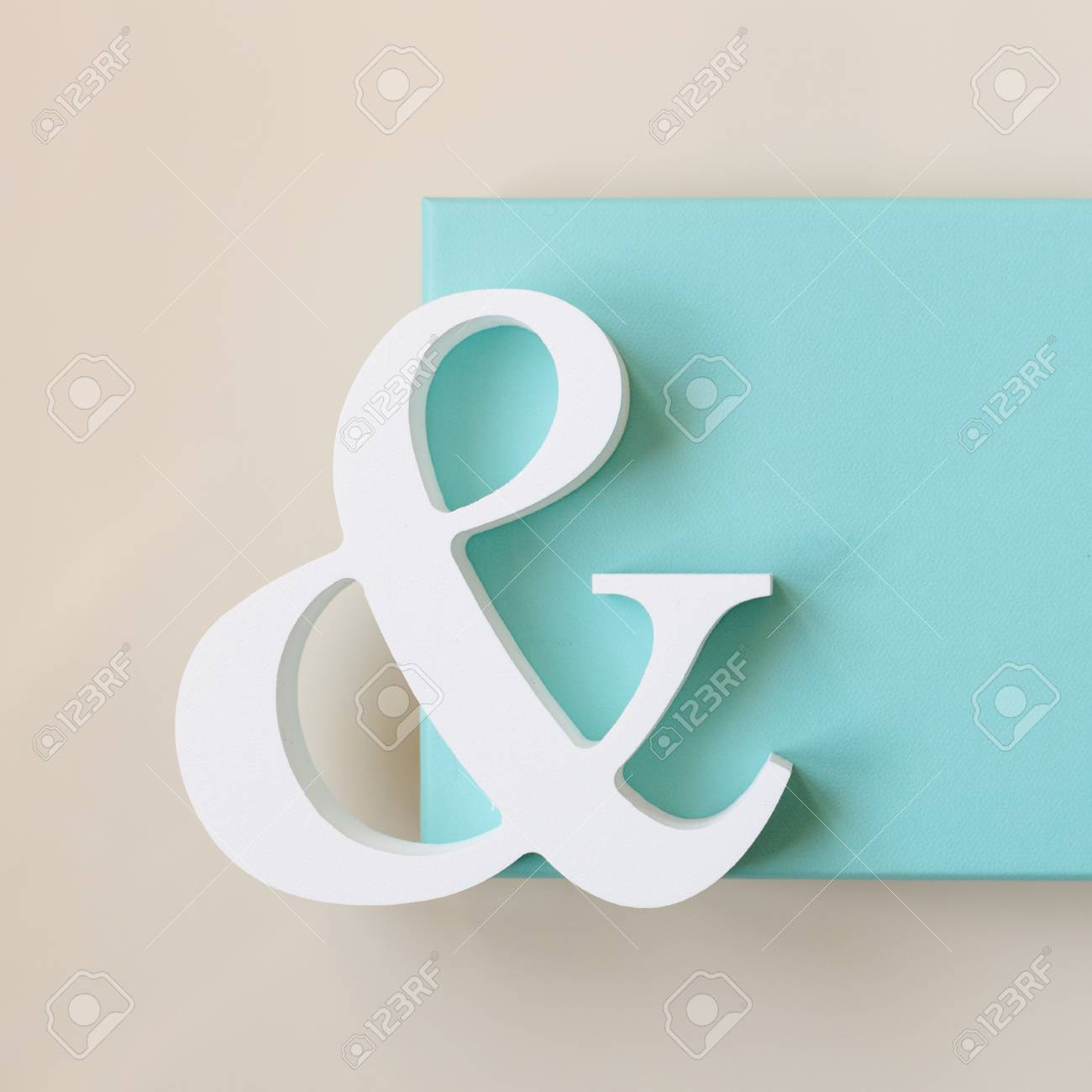 Symbol With Blue Box Stock Photo Picture And Royalty Free Image