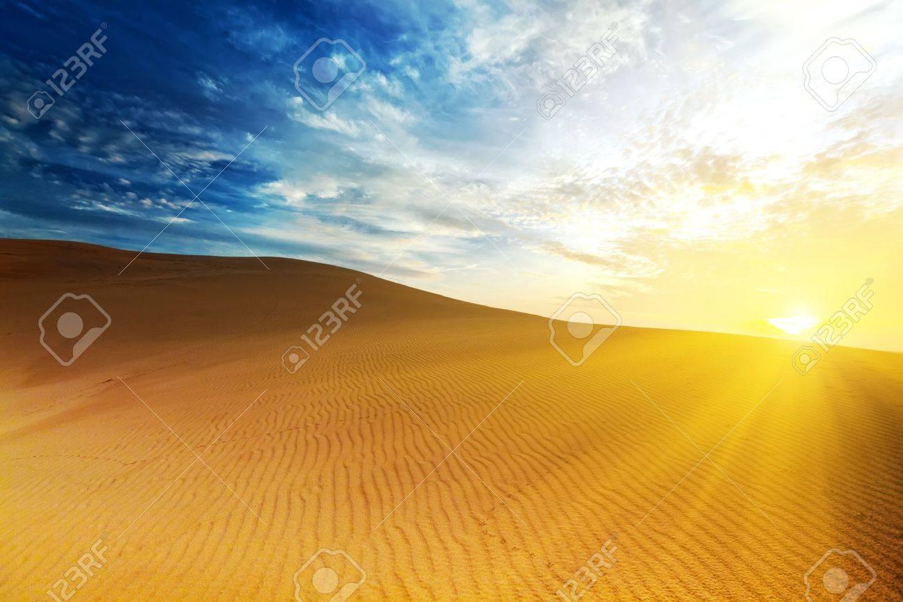 Sandy desert at sunrise time. Vietnam. Mui ne Stock Photo - 7598308