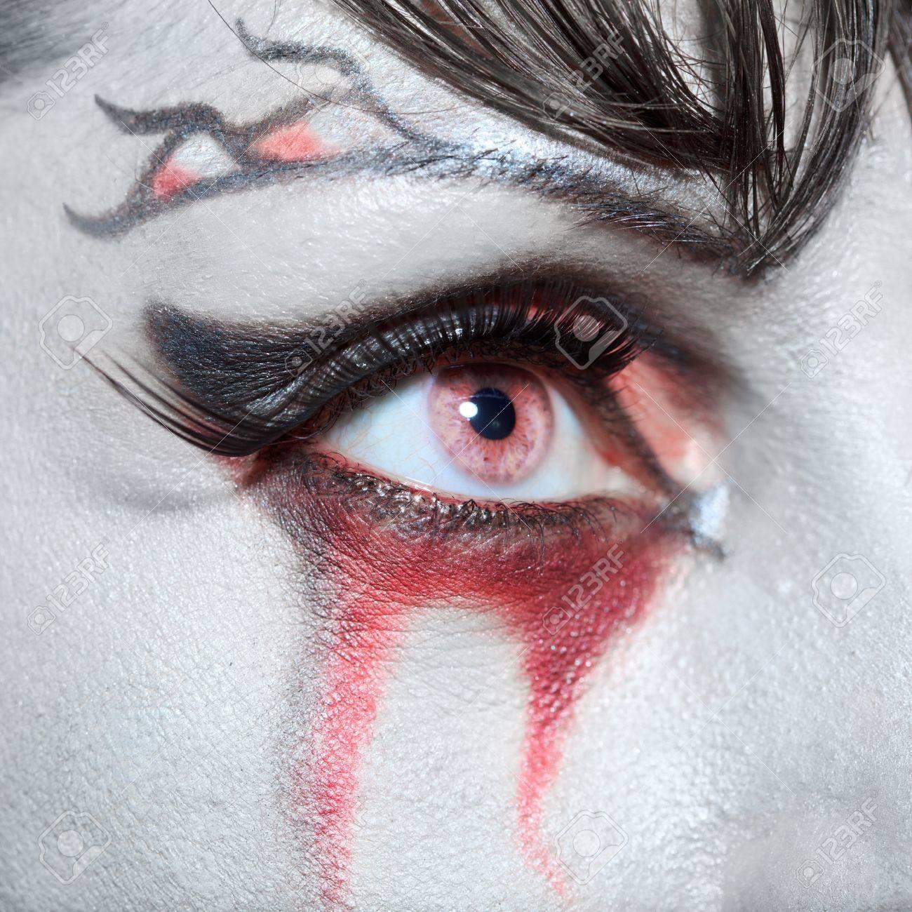 Woman as a vampire. Halloween face art Stock Photo - 8069200