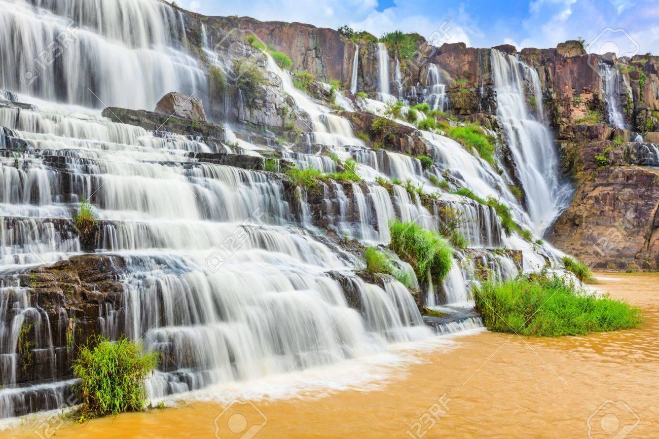 Beautiful Pongour waterfall in Vietnam Stock Photo - 14570126