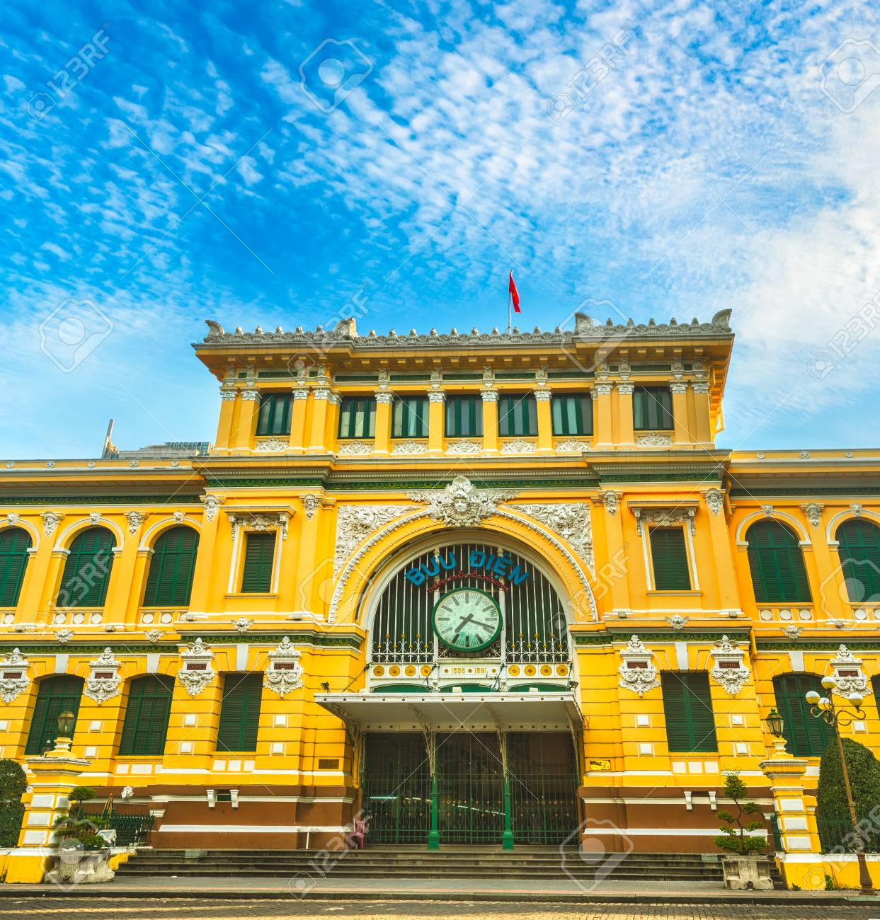 Saigon Central Post Office in the downtown Ho Chi Minh City,