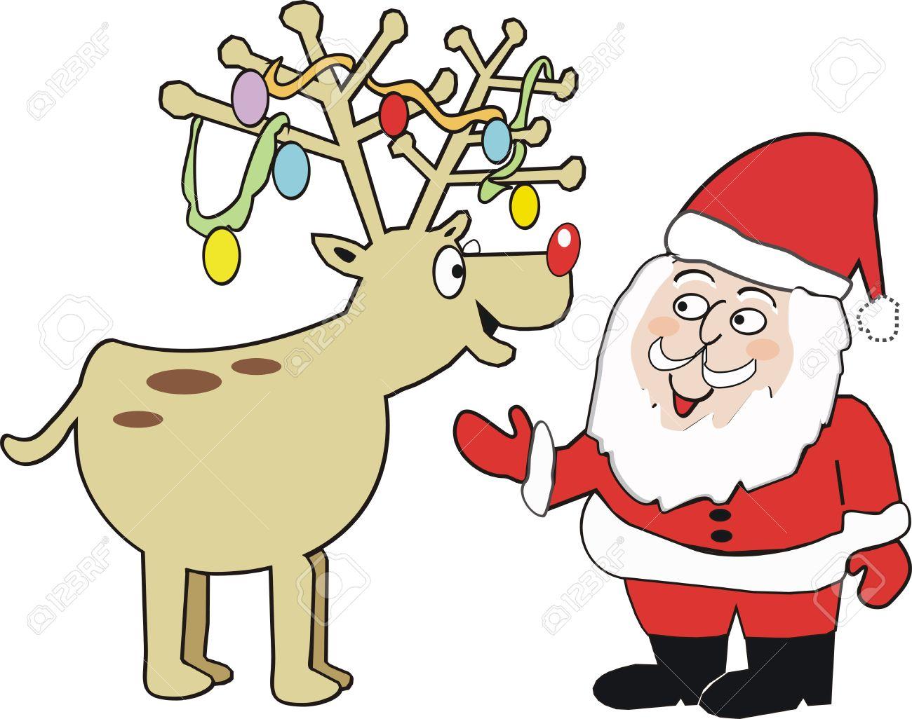Christmas reindeer cartoon Stock Vector - 6832386