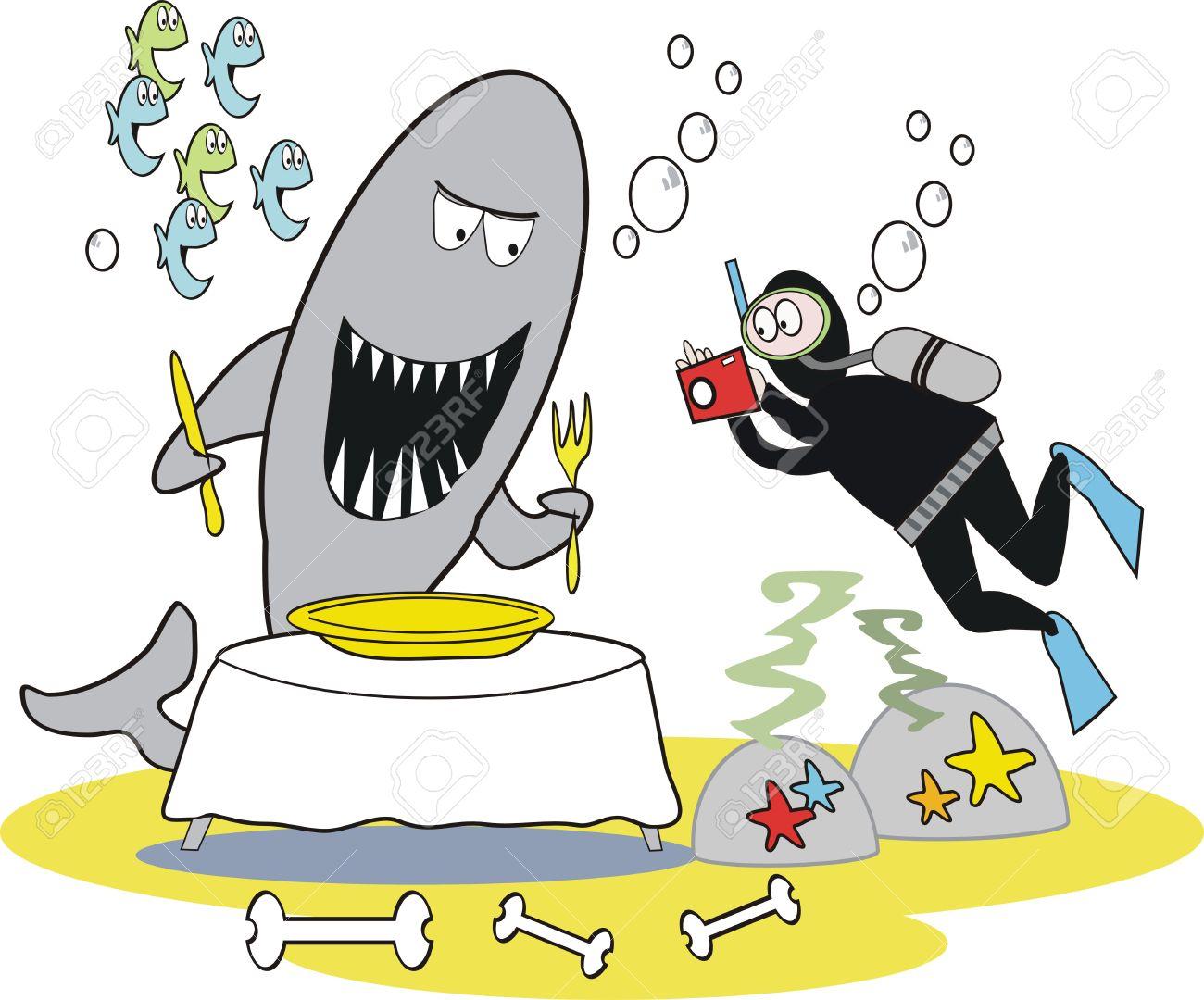 Image result for fierce shark cartoon