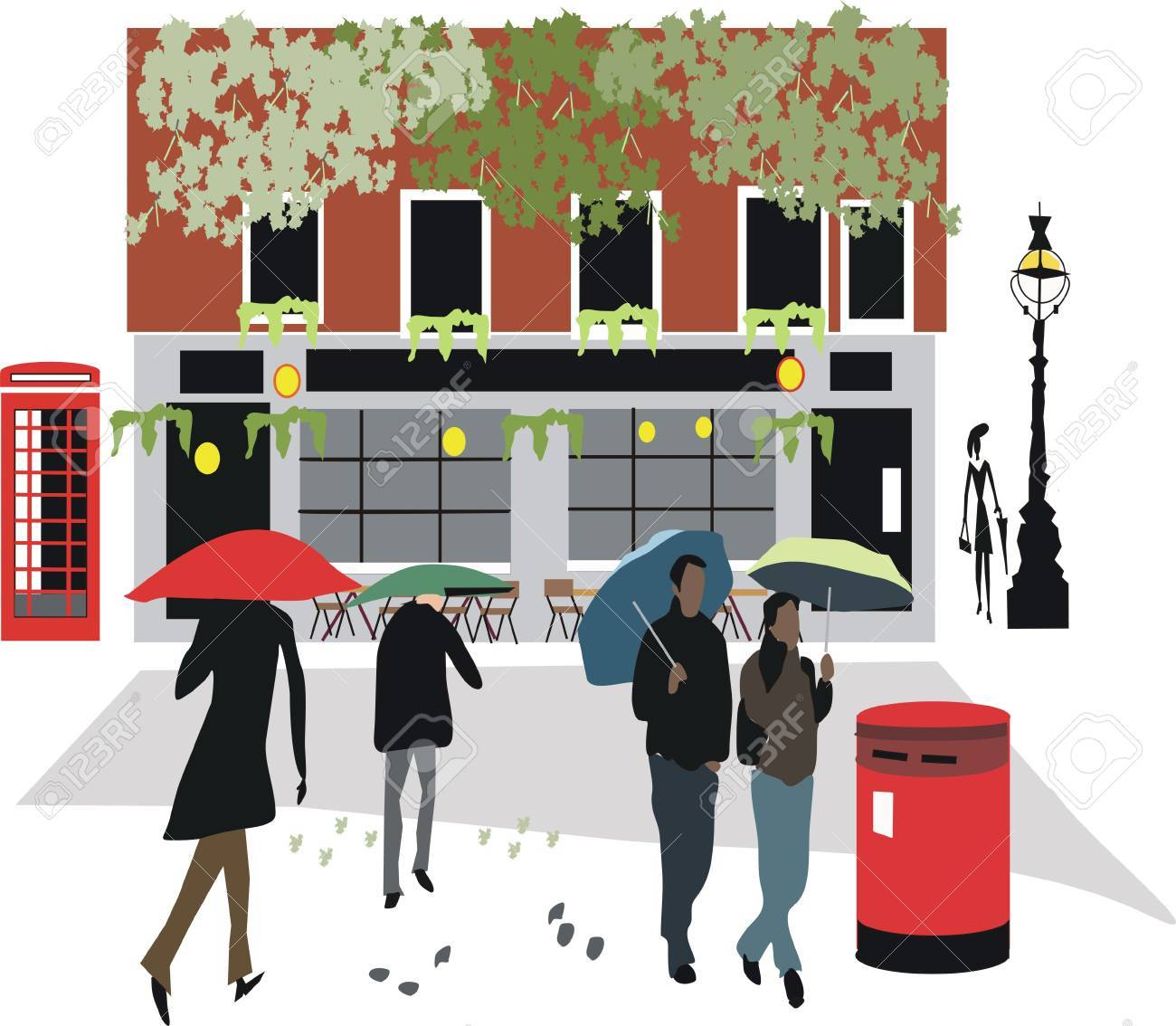 London pub illustration Stock Vector - 7778305
