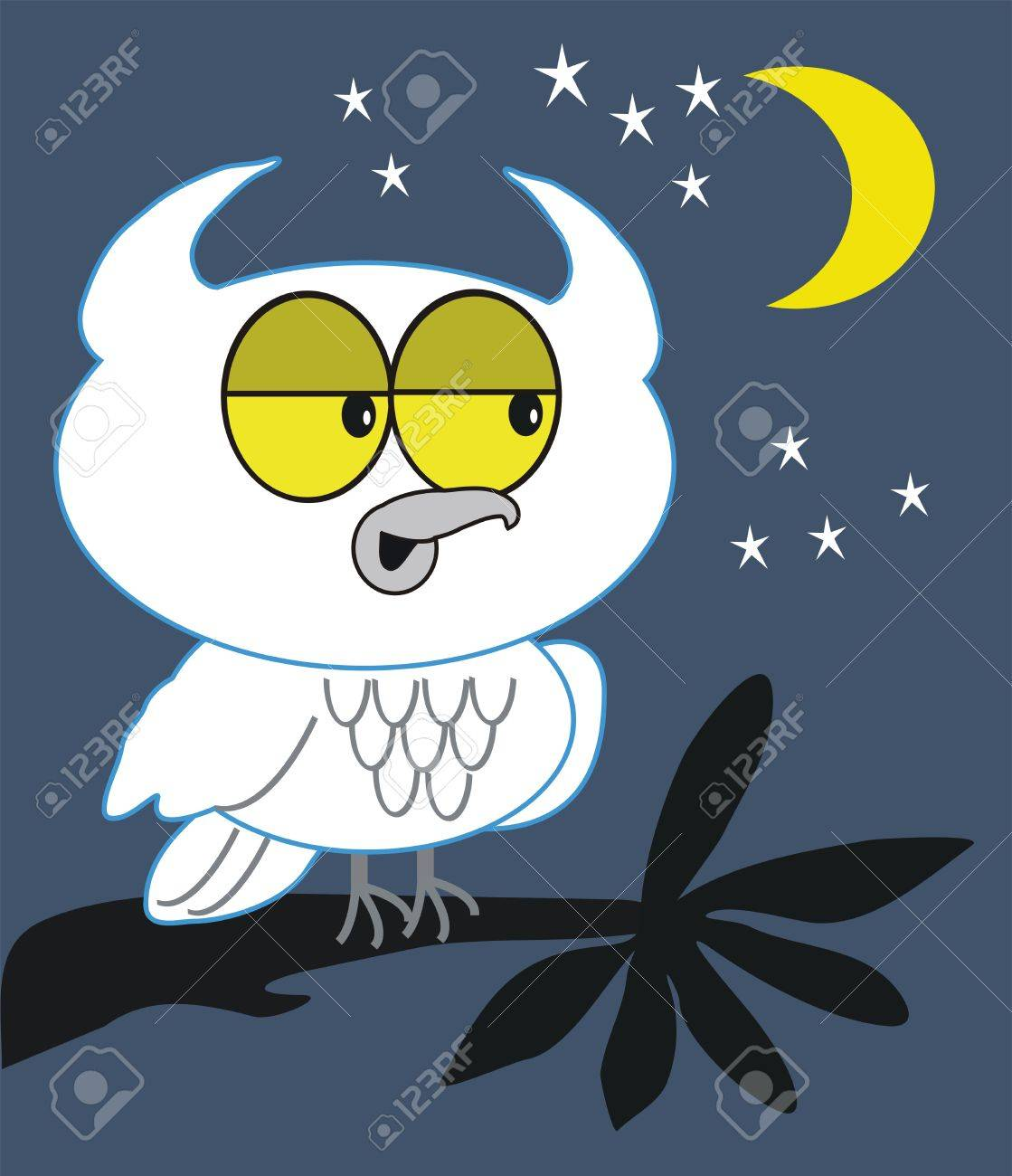 Caricatura de búho de noche  Foto de archivo - 7883214