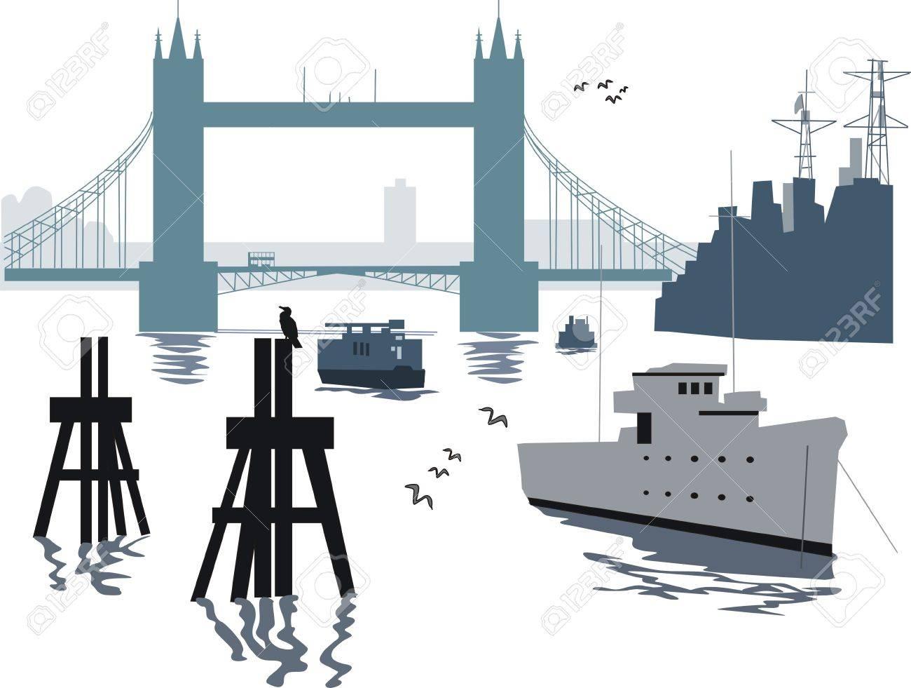 London bridge illustration Stock Vector - 8240933