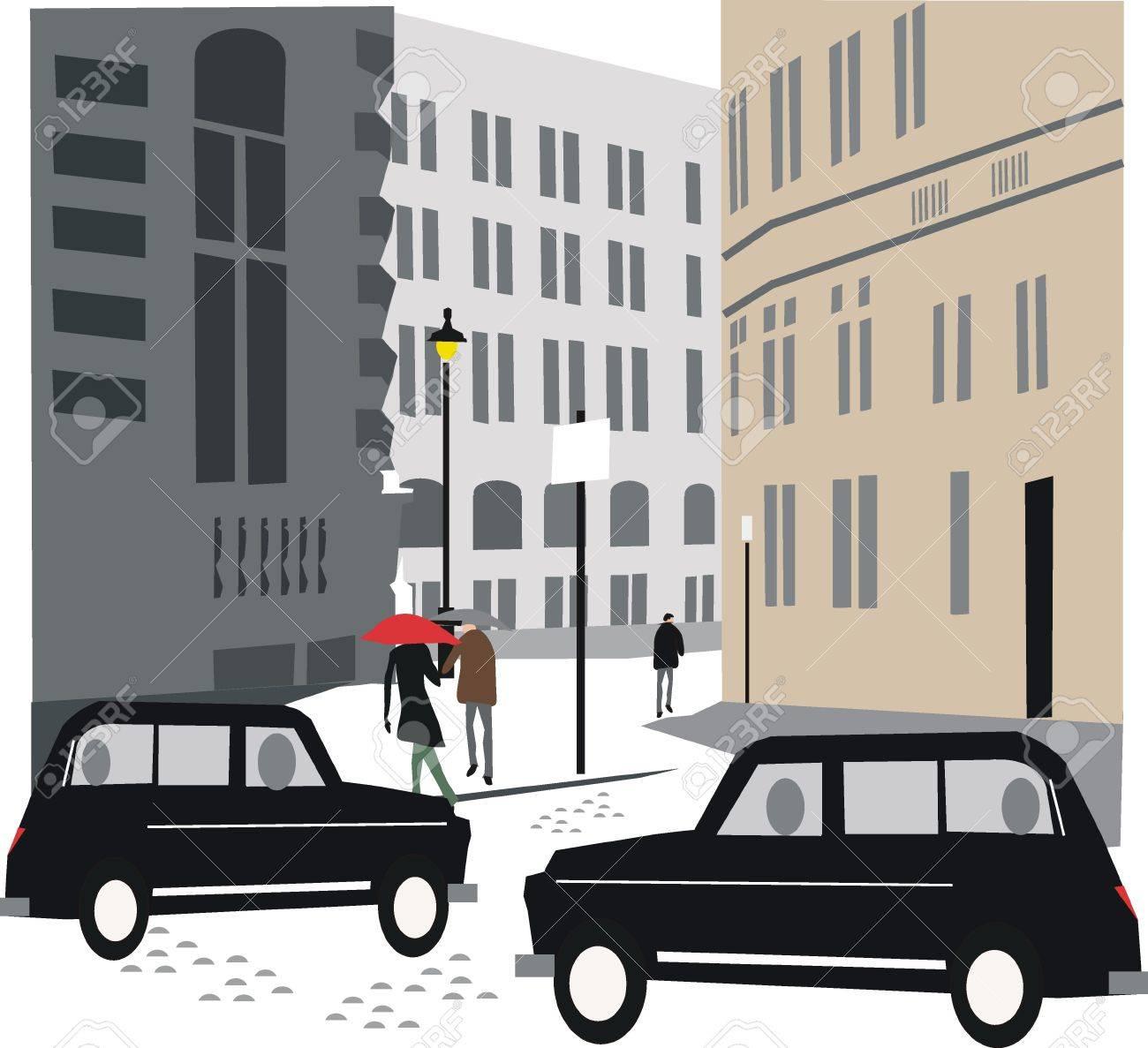 London taxi illustration Stock Vector - 8587337