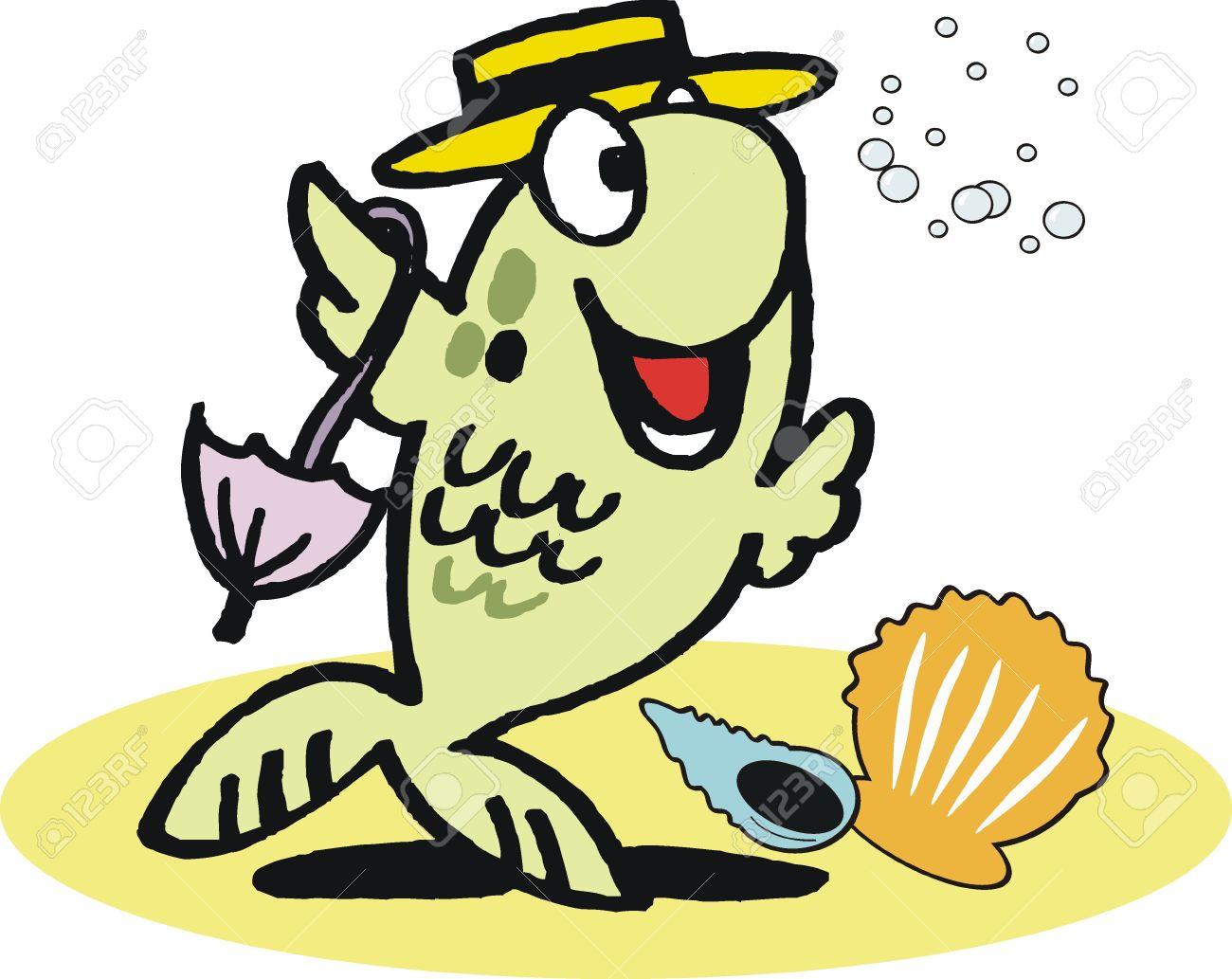 funny dancing fish cartoon royalty free cliparts vectors and stock rh 123rf com Under the Sea Clip Art Funny Fishing Clip Art