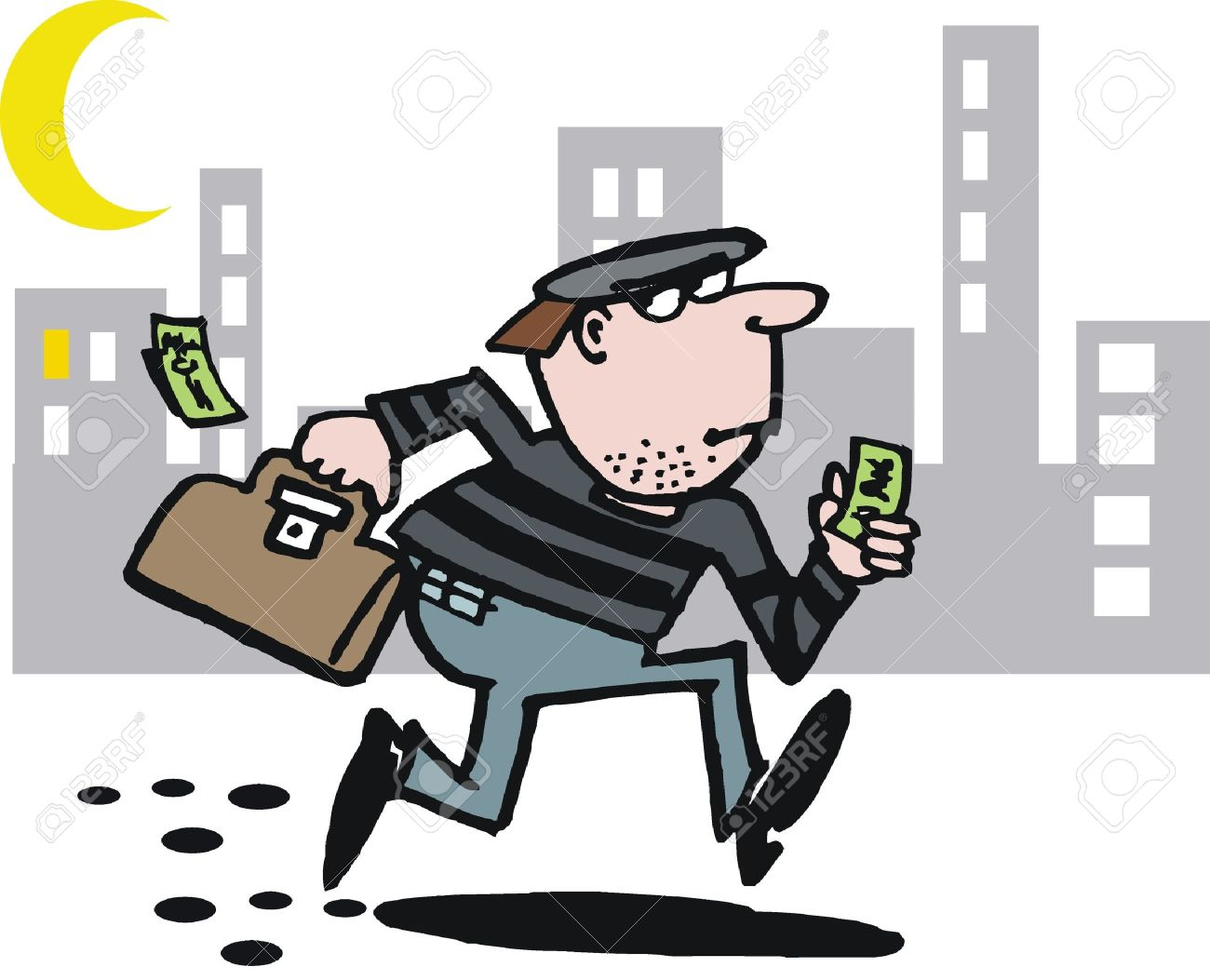 Cartoon Thief Running Cartoon Thief Running